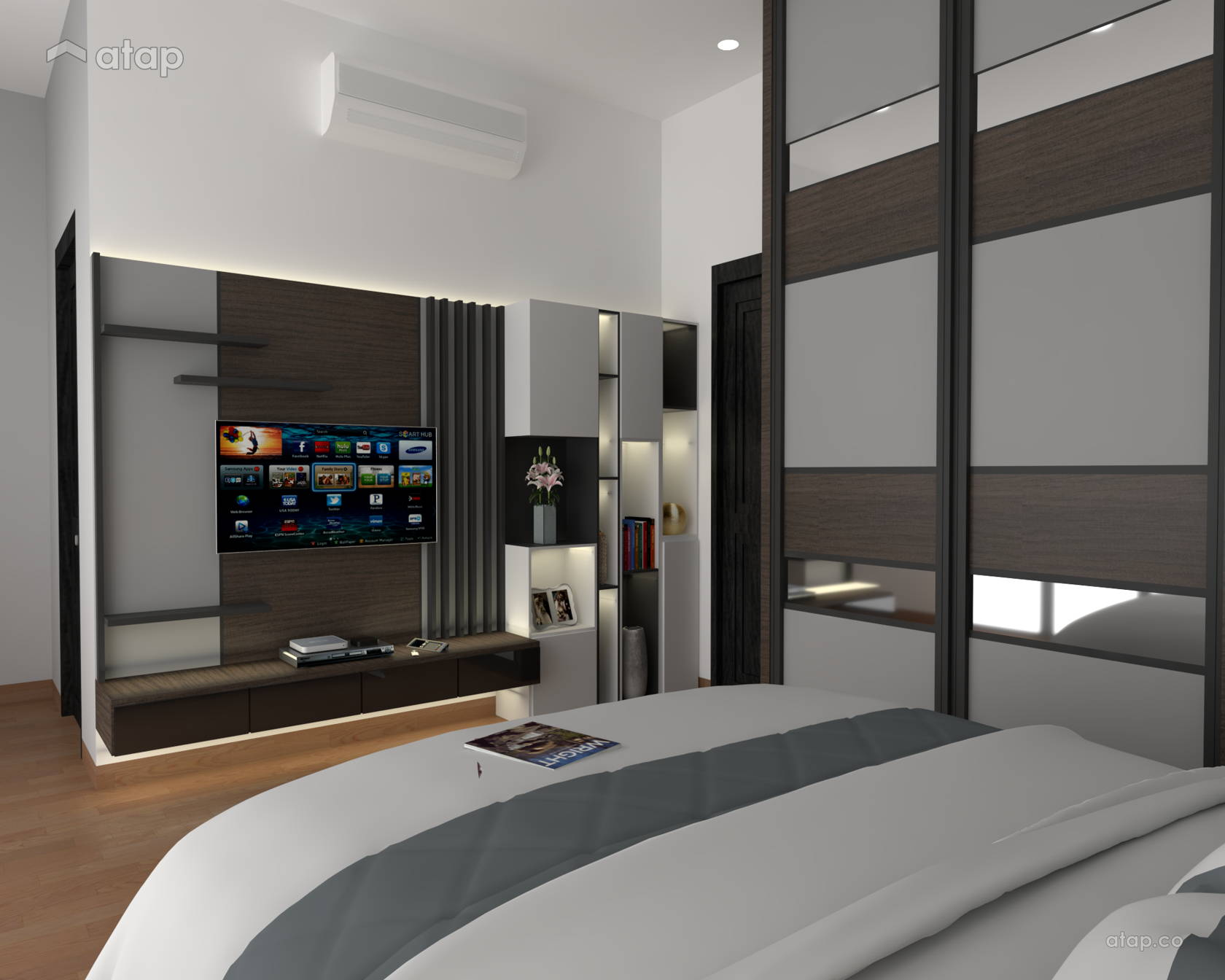 Picture of: Modern Bedroom Apartment Design Ideas Photos Malaysia Atap Co