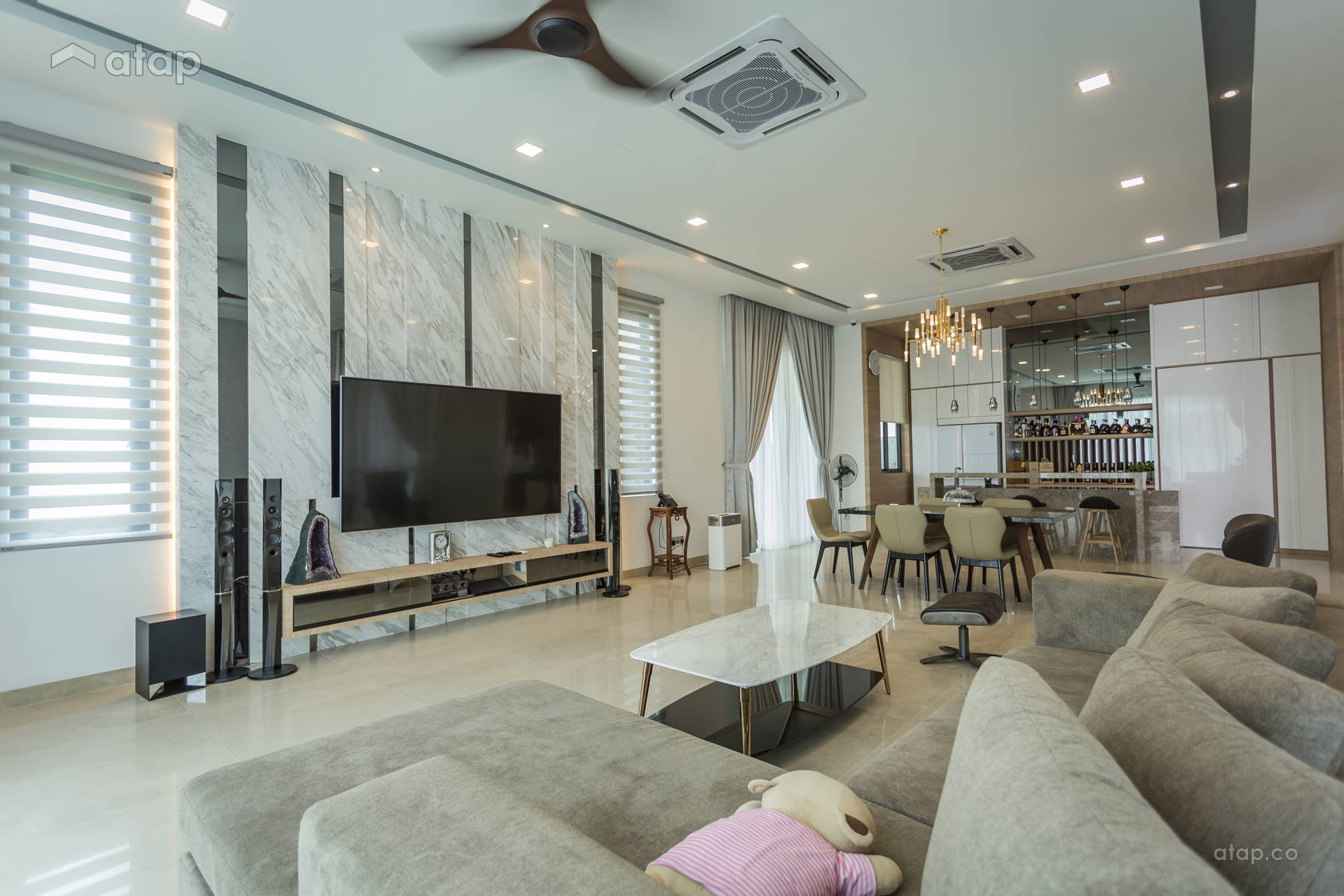 Classic Contemporary Living Room Bungalow Design Ideas Photos Malaysia Atap Co