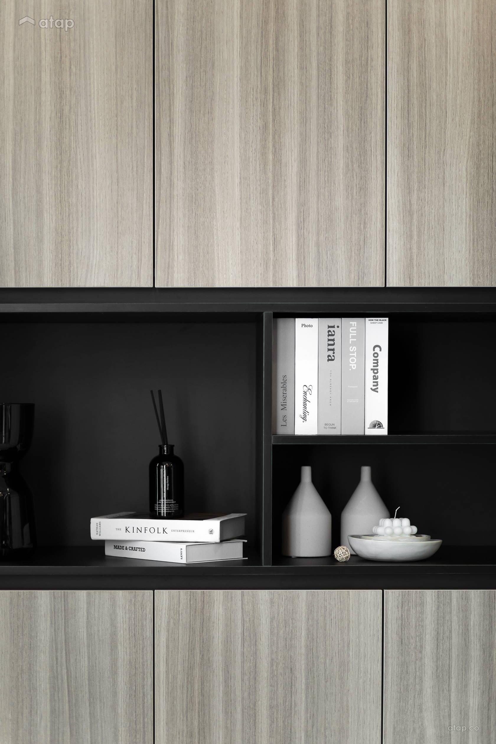 Condominium Study Room: Contemporary Modern Study Room Condominium Design Ideas
