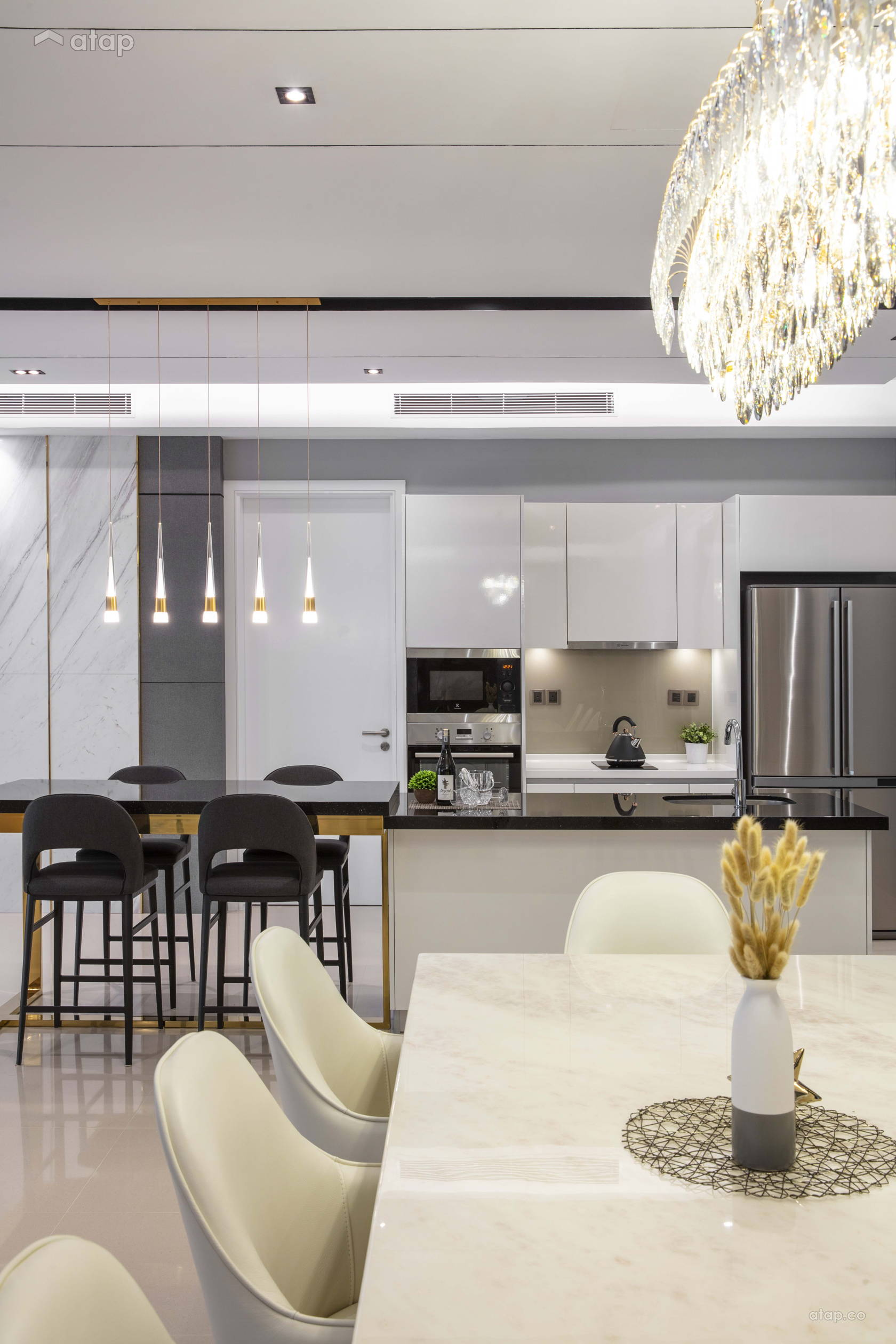 Contemporary Modern Dining Room Kitchen @ ELEGANT GLAM - Pavilion Hilltop Mont Kiara