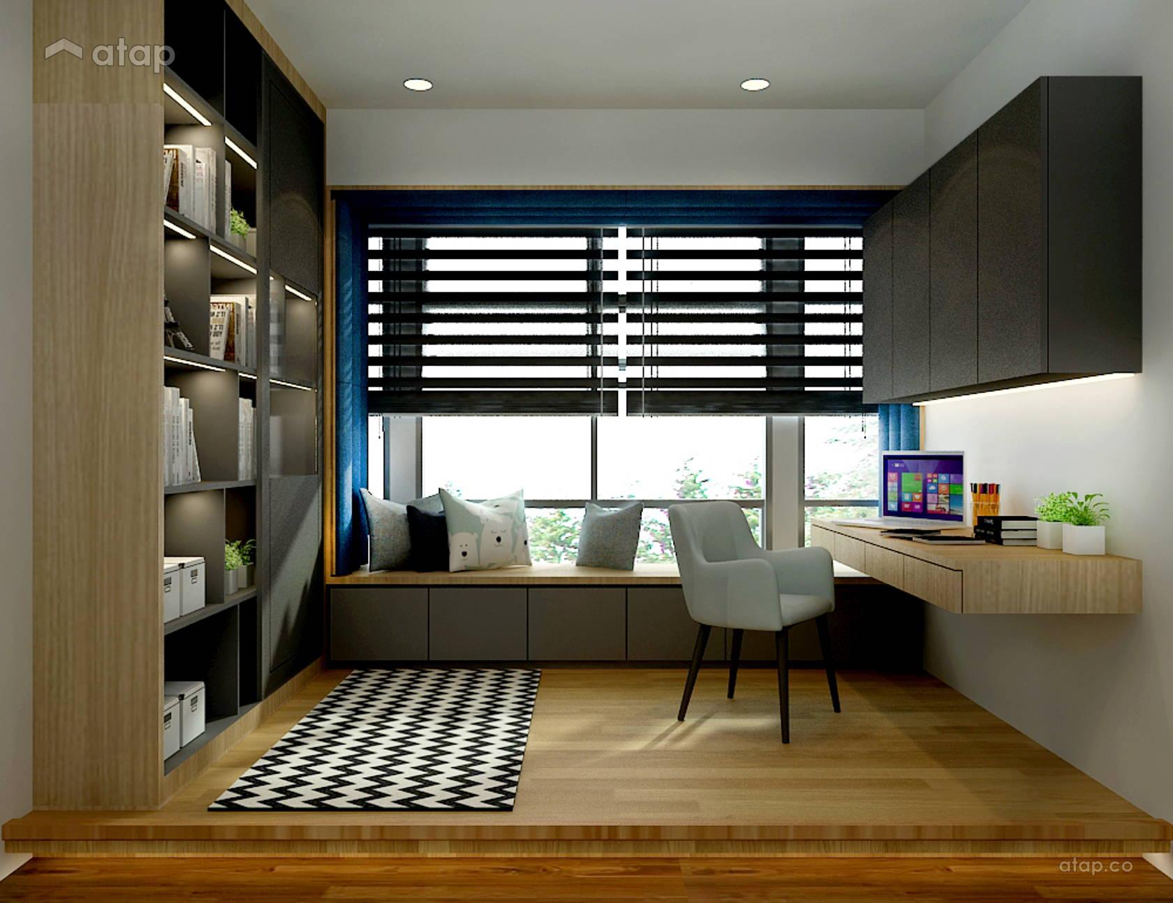 Modern study room semi detached design ideas photos - Modern study room ideas ...