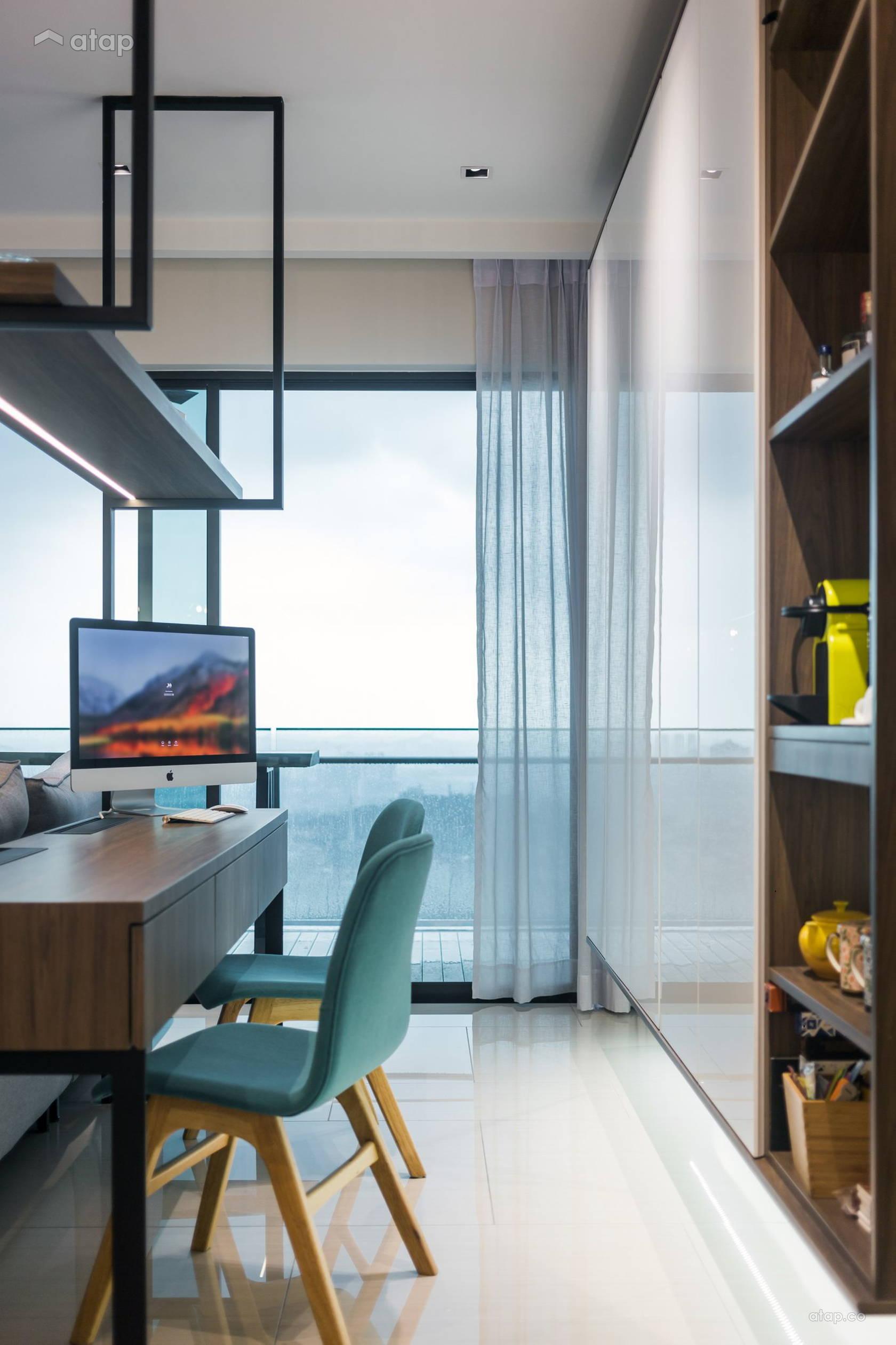 Condominium Study Room: Modern Study Room Condominium Design Ideas & Photos