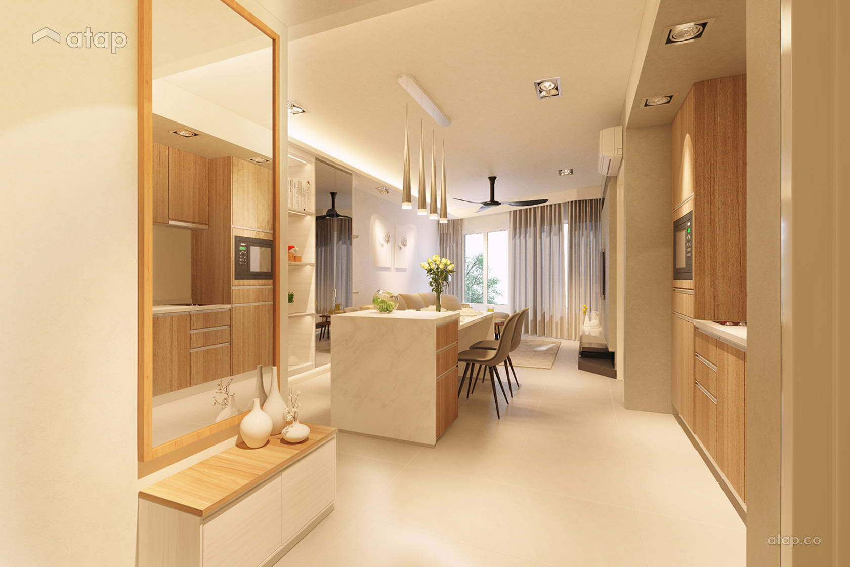 Asian Contemporary Dining Room Kitchen @ Ara Damansara Type A1