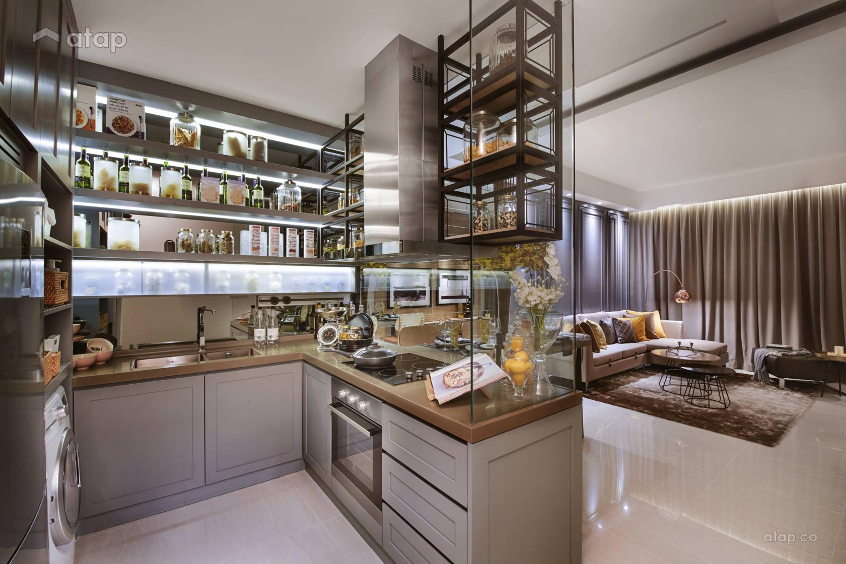 Contemporary Kitchen @ Sentral Suites Corner D