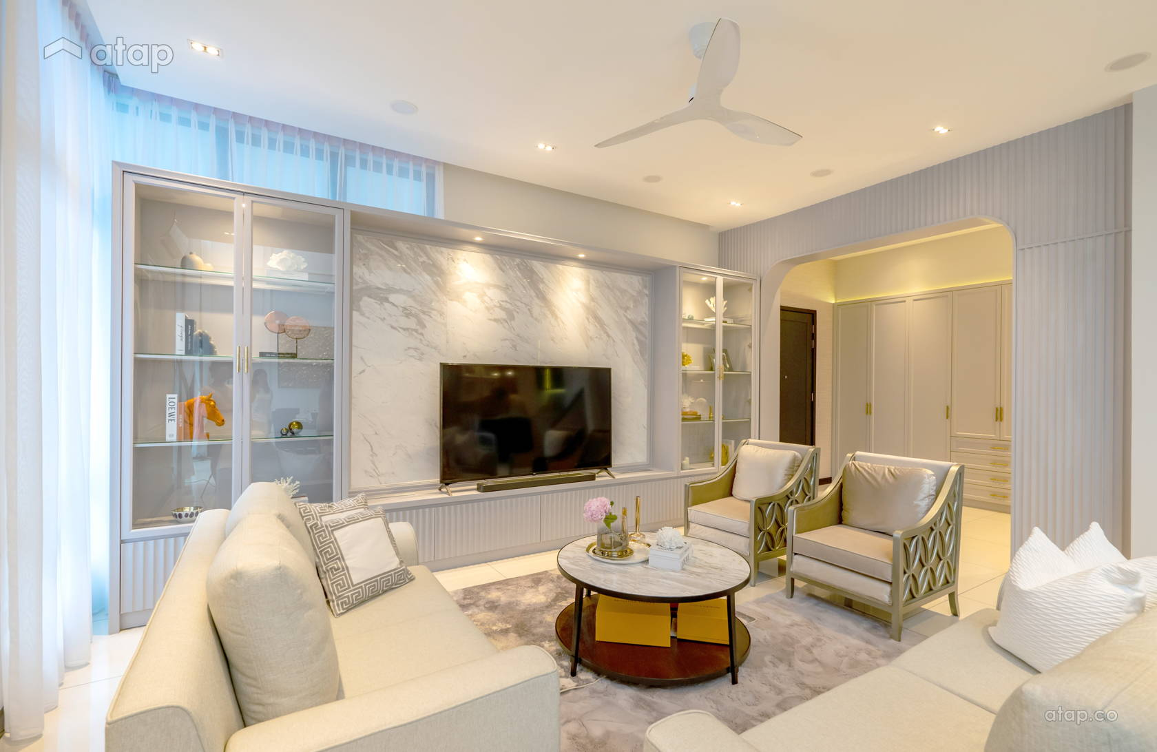 Living Room @ Straits View Residences, The Hamptons Living
