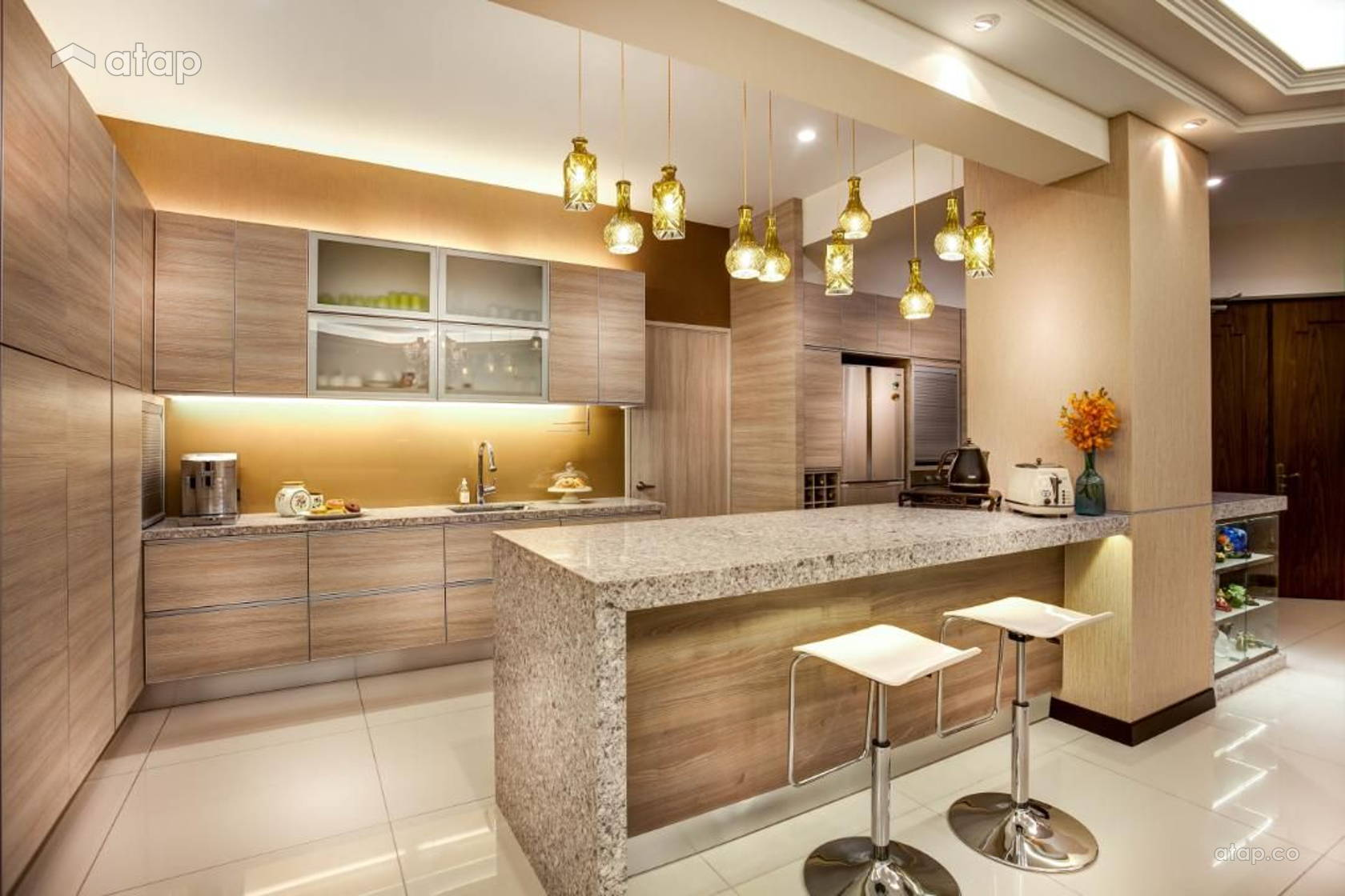 Contemporary Classic Kitchen Condominium Design Ideas Photos
