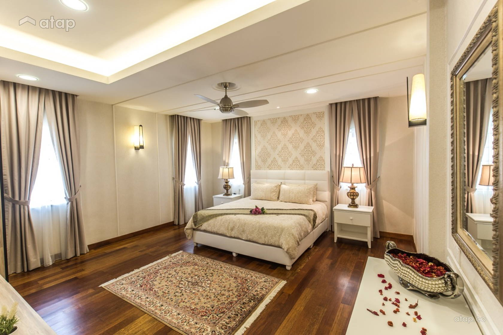 Classic Vintage Bedroom @ Luxury classic bungalow at Taman TAR. Interior design and build by Klaas.