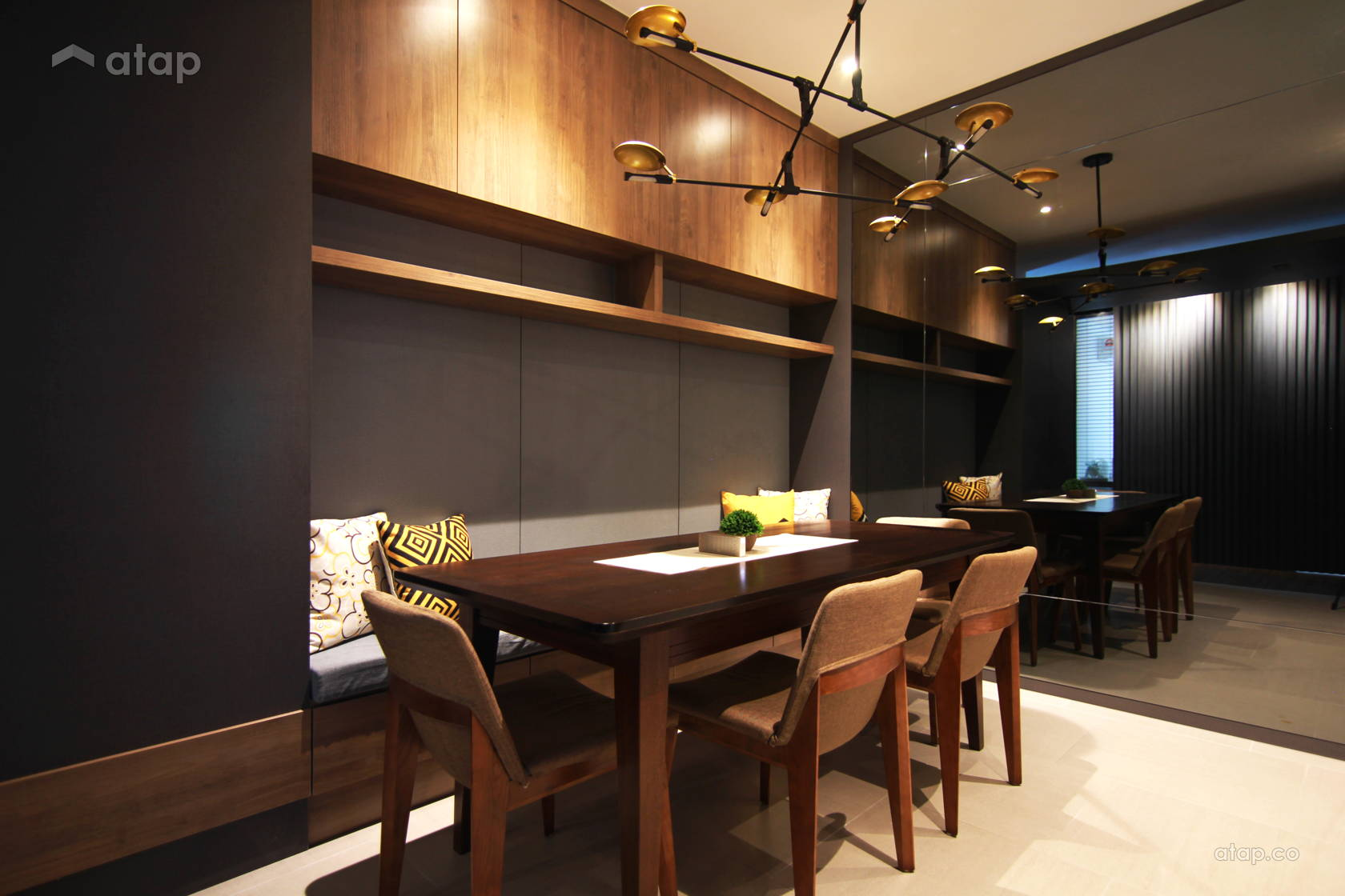 Contemporary Modern Dining Room @ Sky Peak Residences