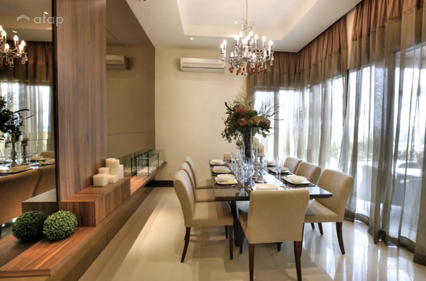 Contemporary Modern Dining Room Semi Detached Design Ideas Photos
