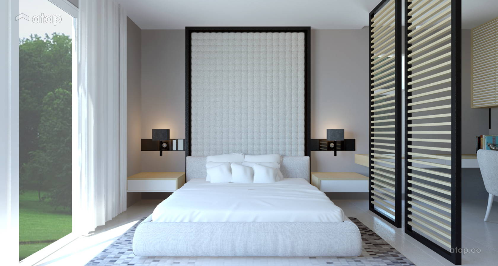 Contemporary Modern Bedroom @ Semi D @Pajam