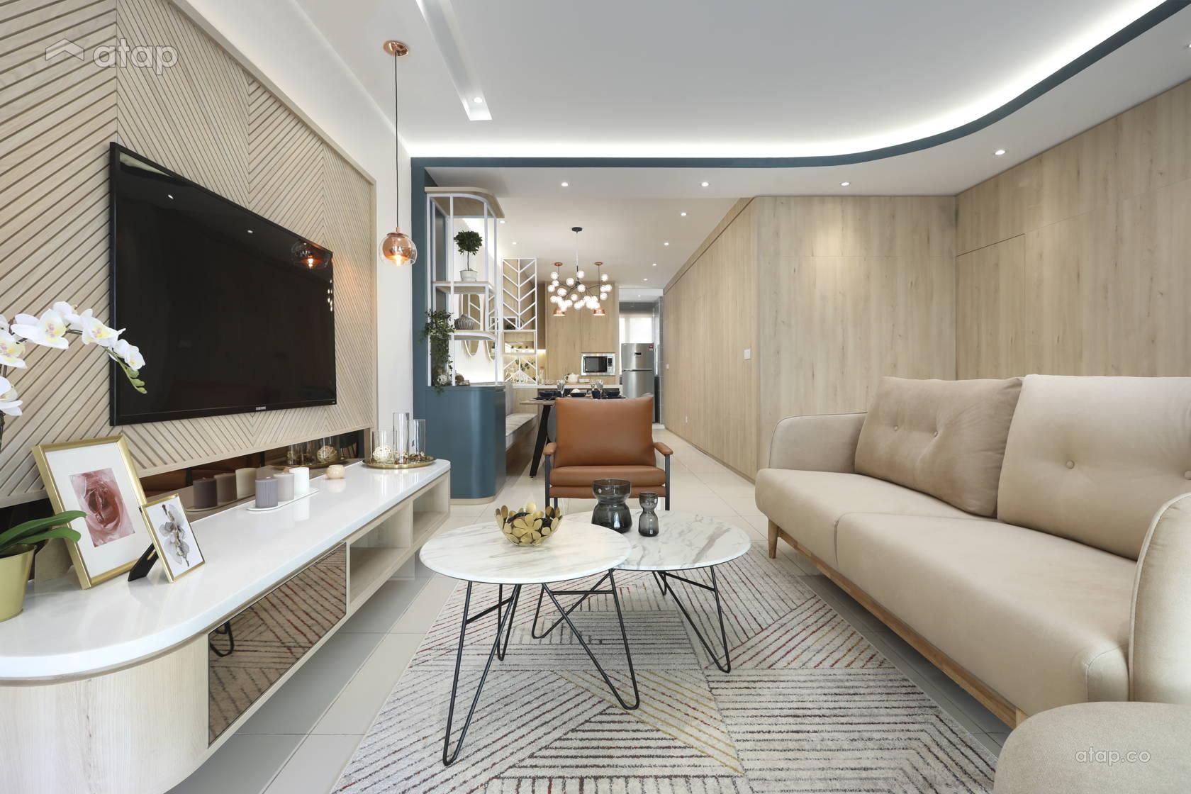 Modern Scandinavian Dining Room Living Room @ IJM Land Show Unit at Seremban 2