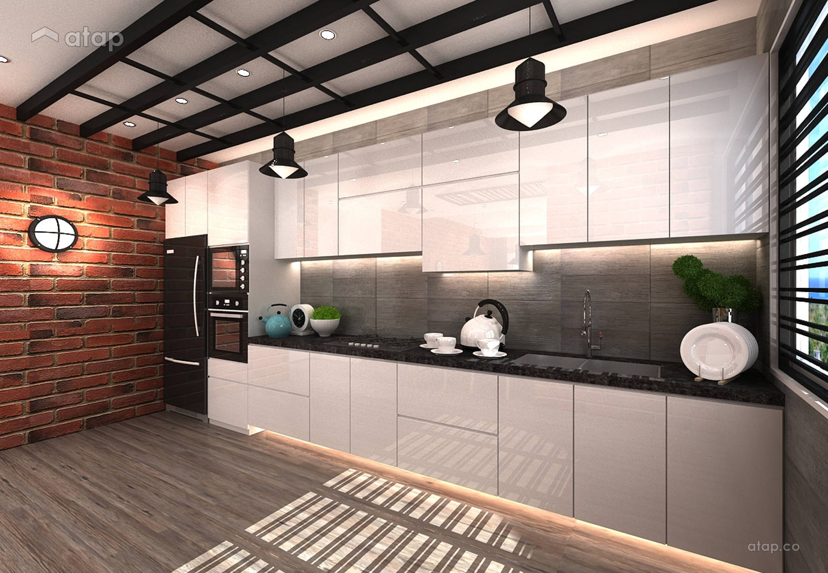 Industrial Modern Kitchen Apartment Design Ideas Photos Malaysia
