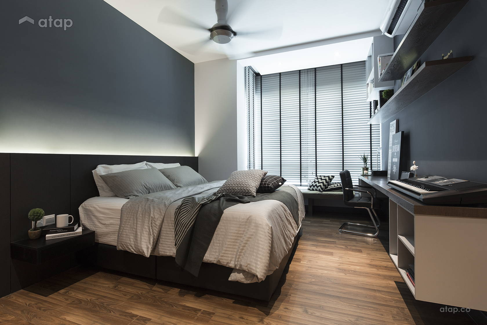 Contemporary Modern Bedroom @ The Reach, Titiwangsa