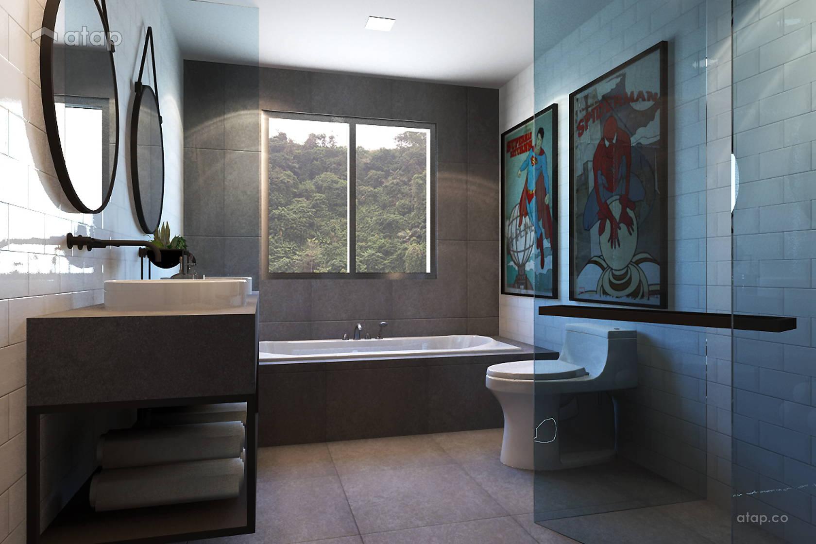 Minimalistic Scandinavian Bathroom @ Armanee Terrace (Scandinavian)