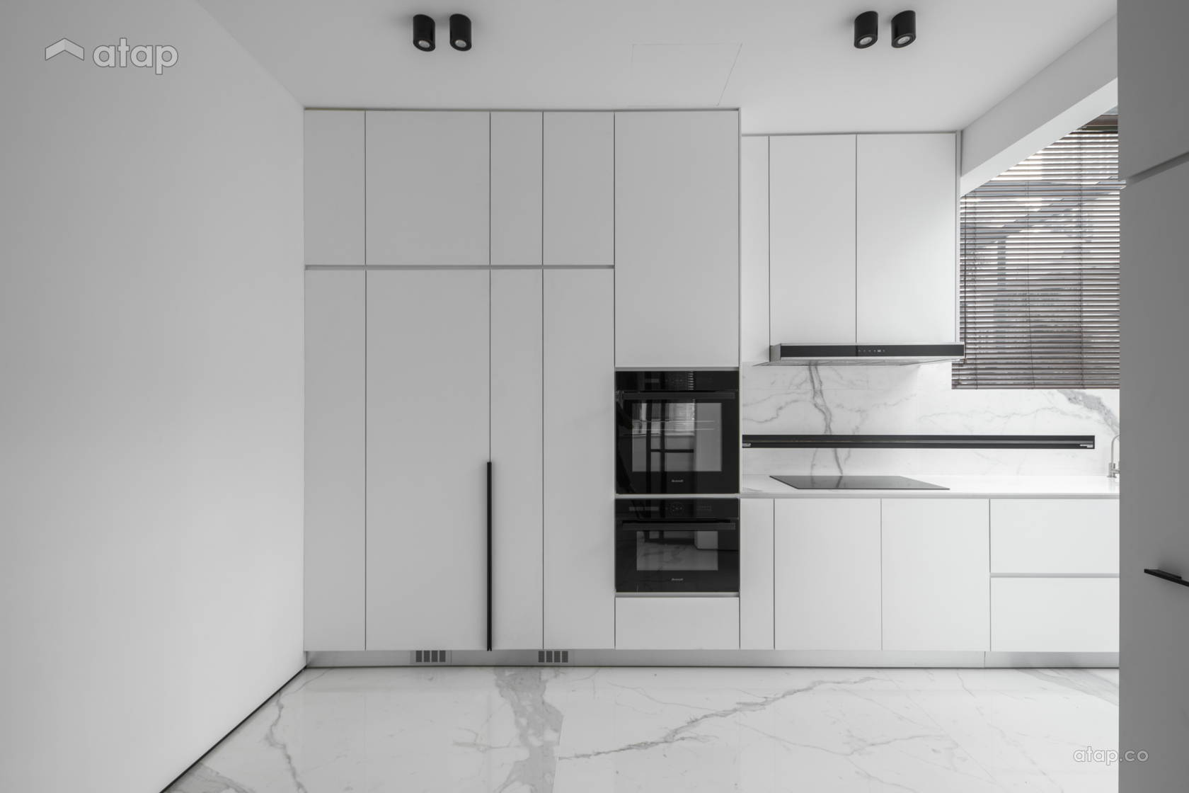 Contemporary Modern Kitchen @ THE IMPACT OF WHITE - Double Storey, Desa parkcity