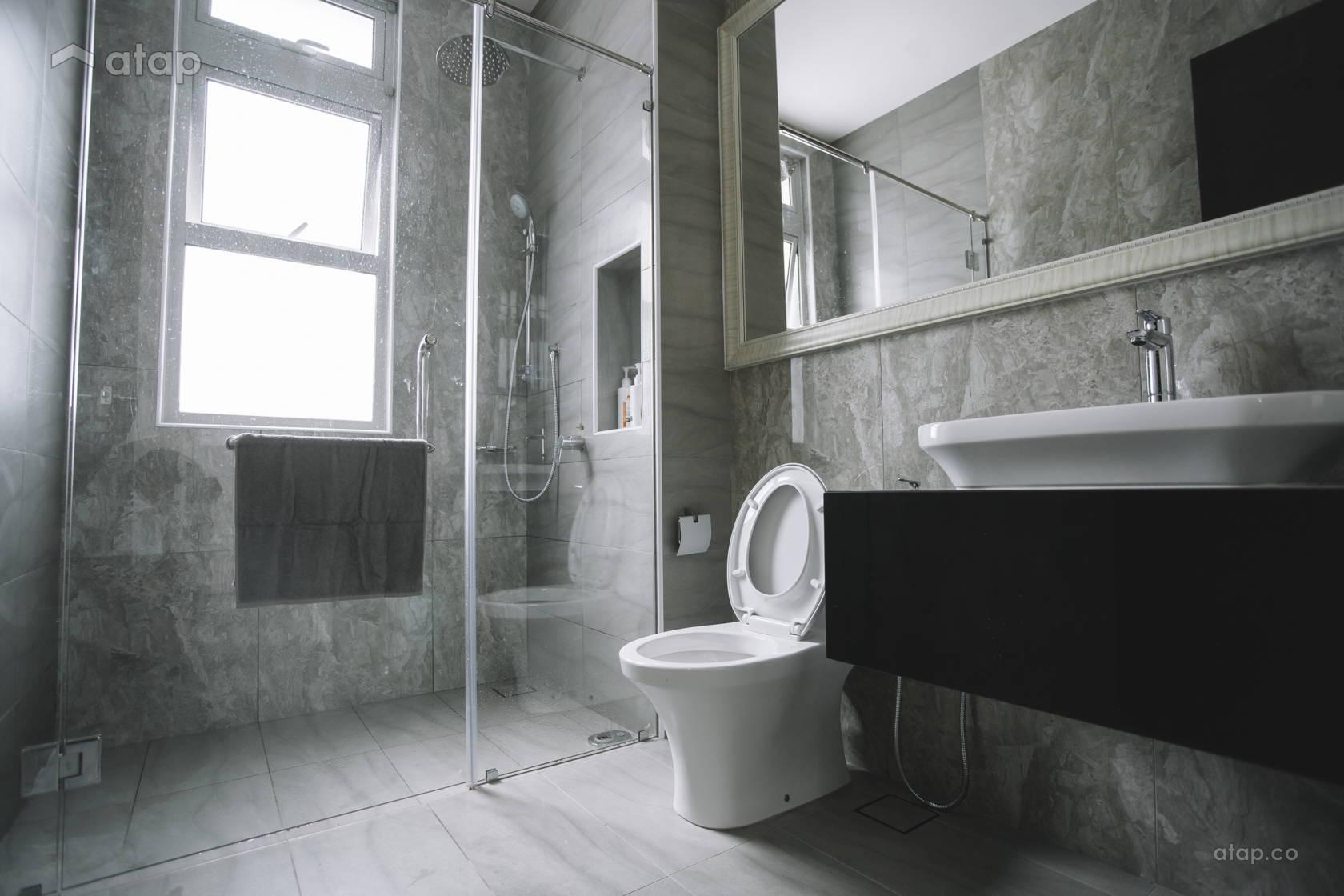 Classic Contemporary Bathroom @ Eco Spring | Tmn Eko Flora | Johor Bahru | Malaysia