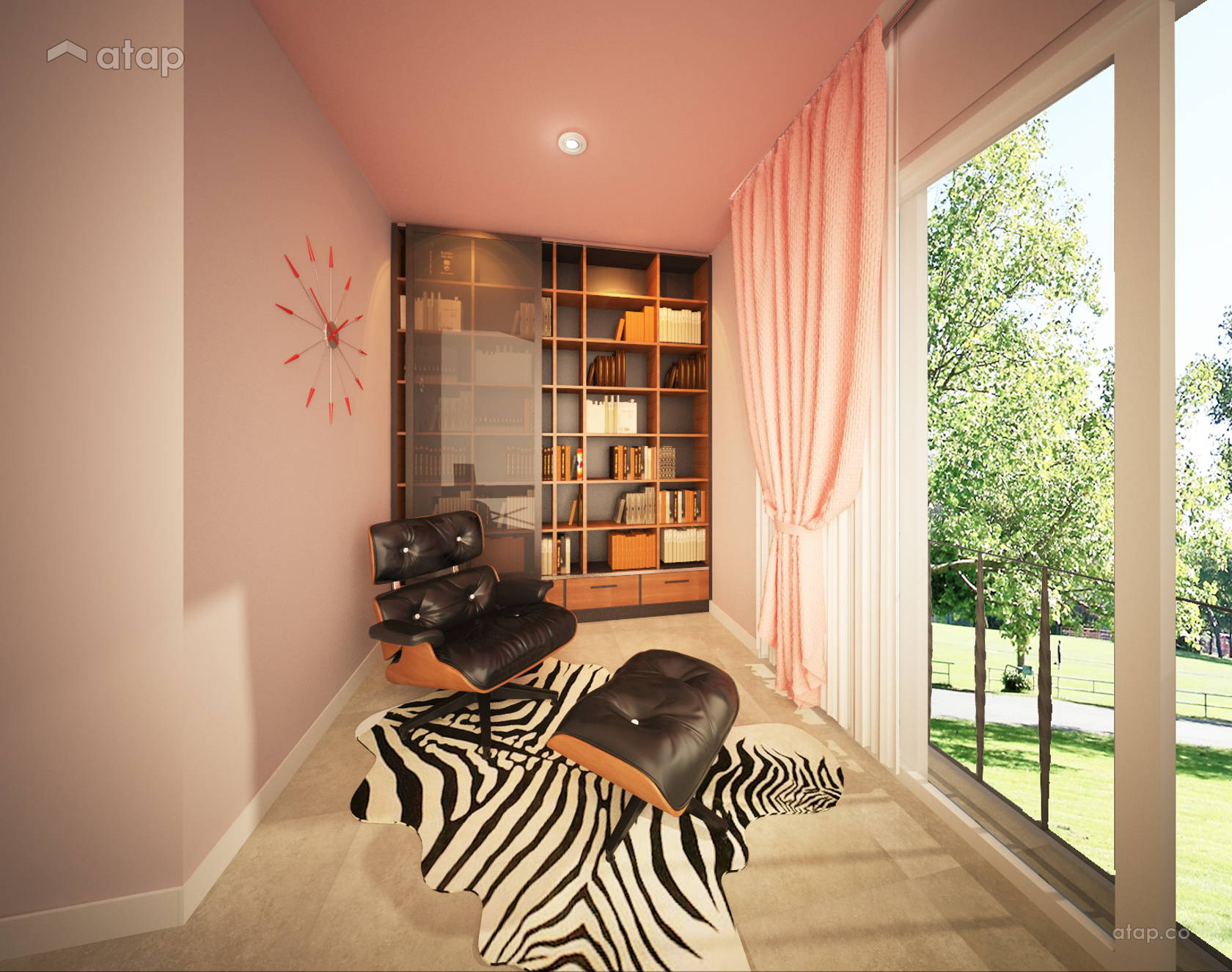 Contemporary Modern Study Room @ Mazelan Bungalow - (Ginormous Modern Fusion Bungalow.)