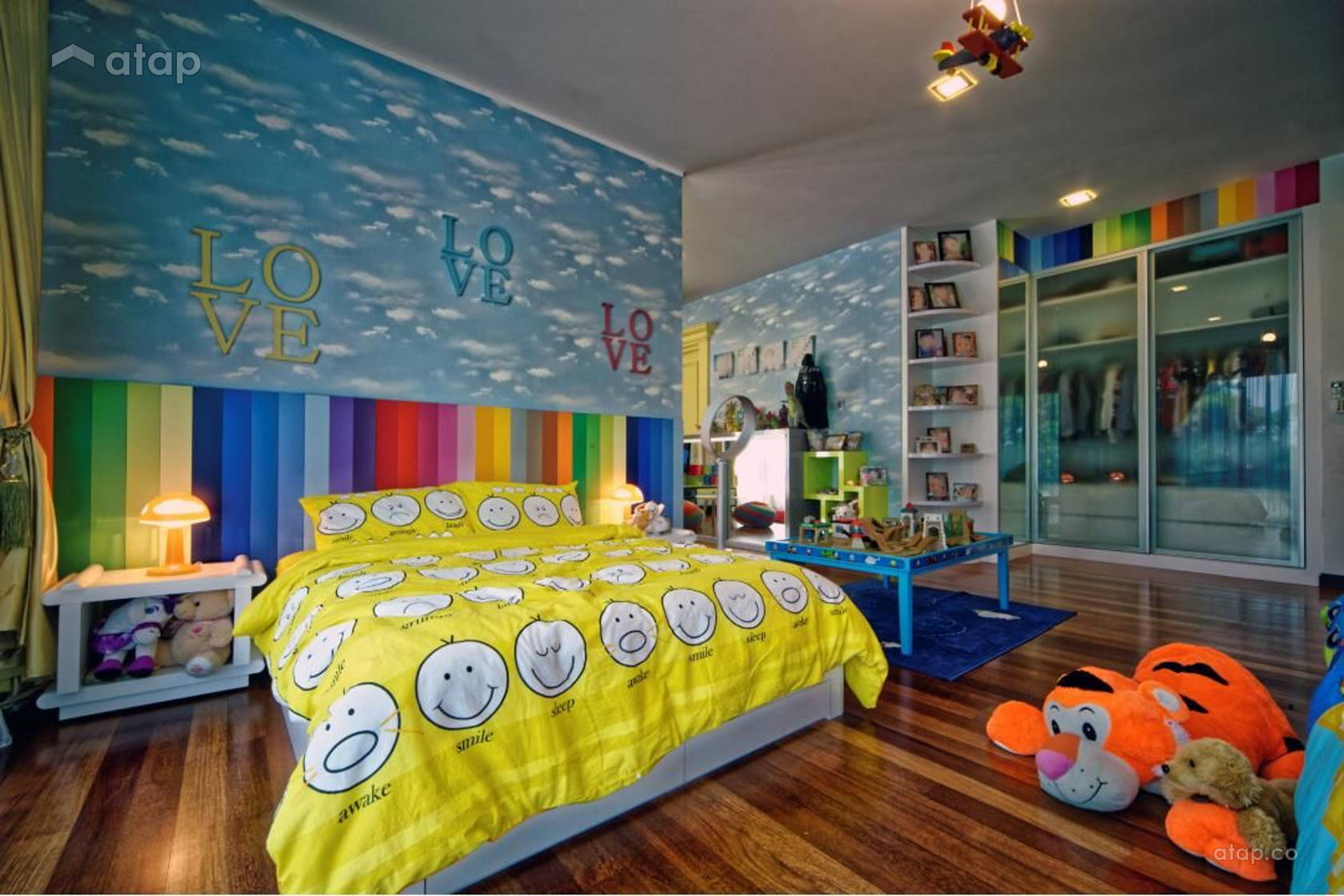 Contemporary Modern Bedroom Kids @ Tropicana