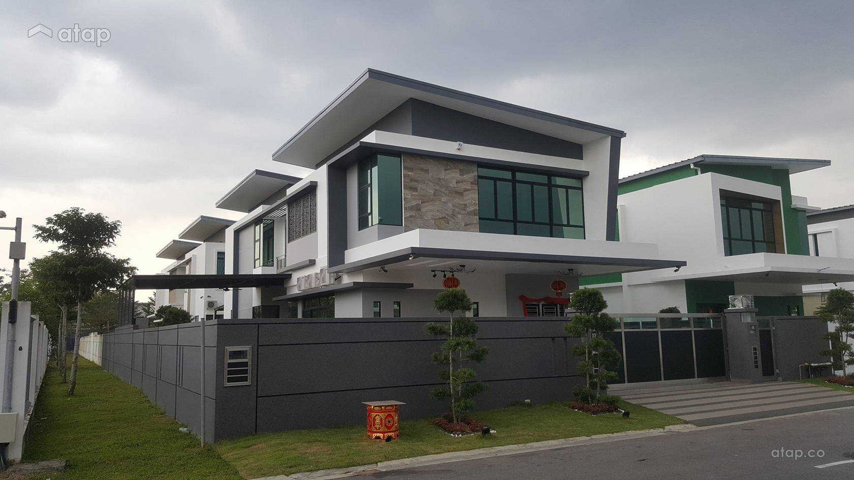 Contemporary Modern Exterior Bungalow Design Ideas Photos Malaysia Atap Co