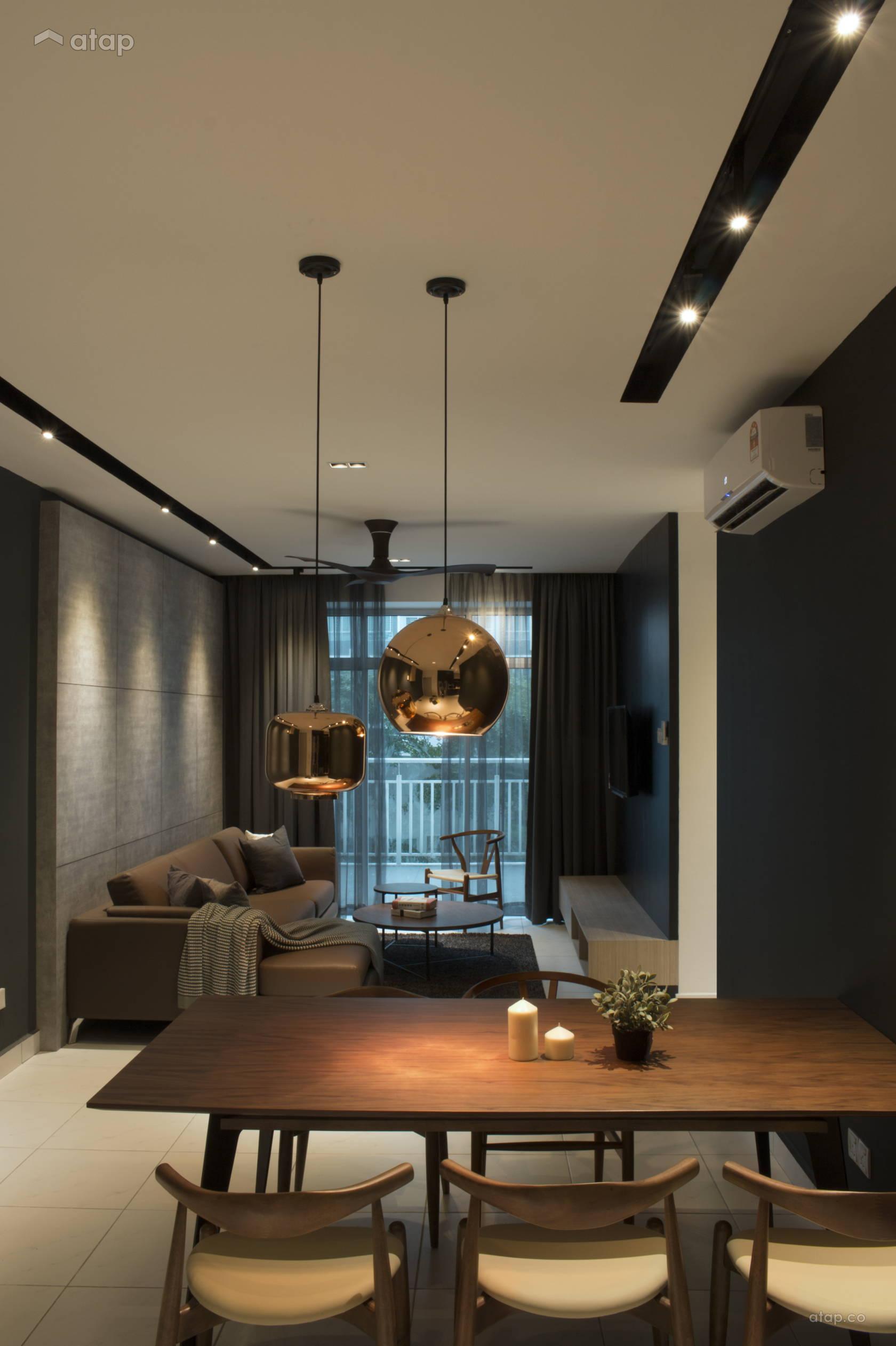 Living Room Condo Design: Contemporary Dining Room Living Room Condominium Design