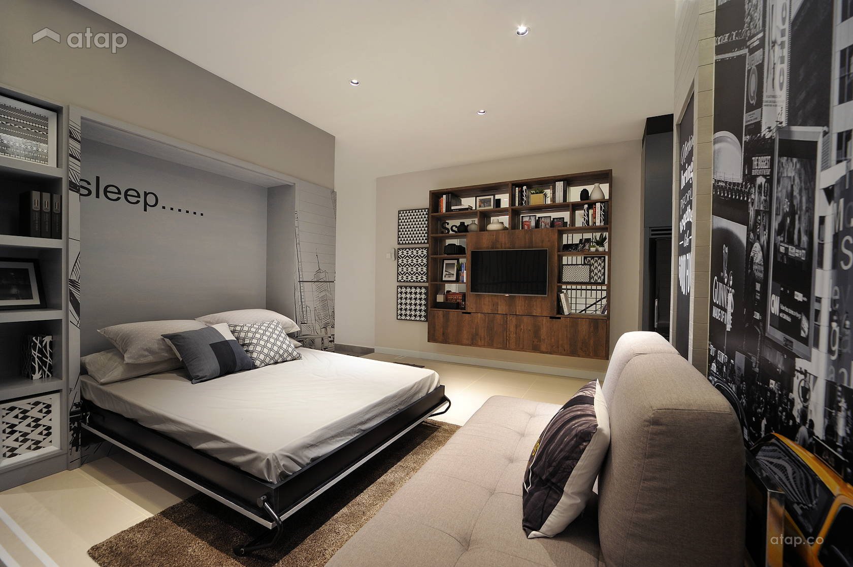 Minimalistic Modern Bedroom @ HighPark Studio A1