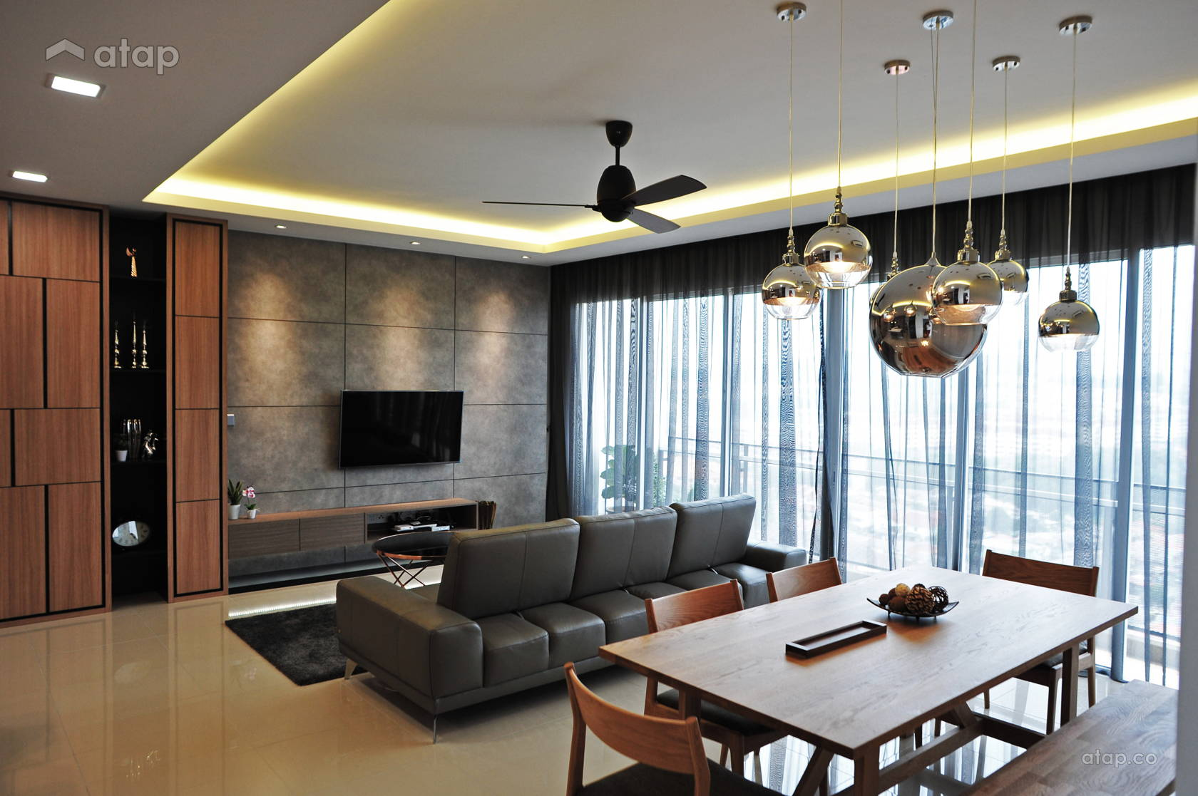 Contemporary modern living room casa green condominium spazio design sdn bhd