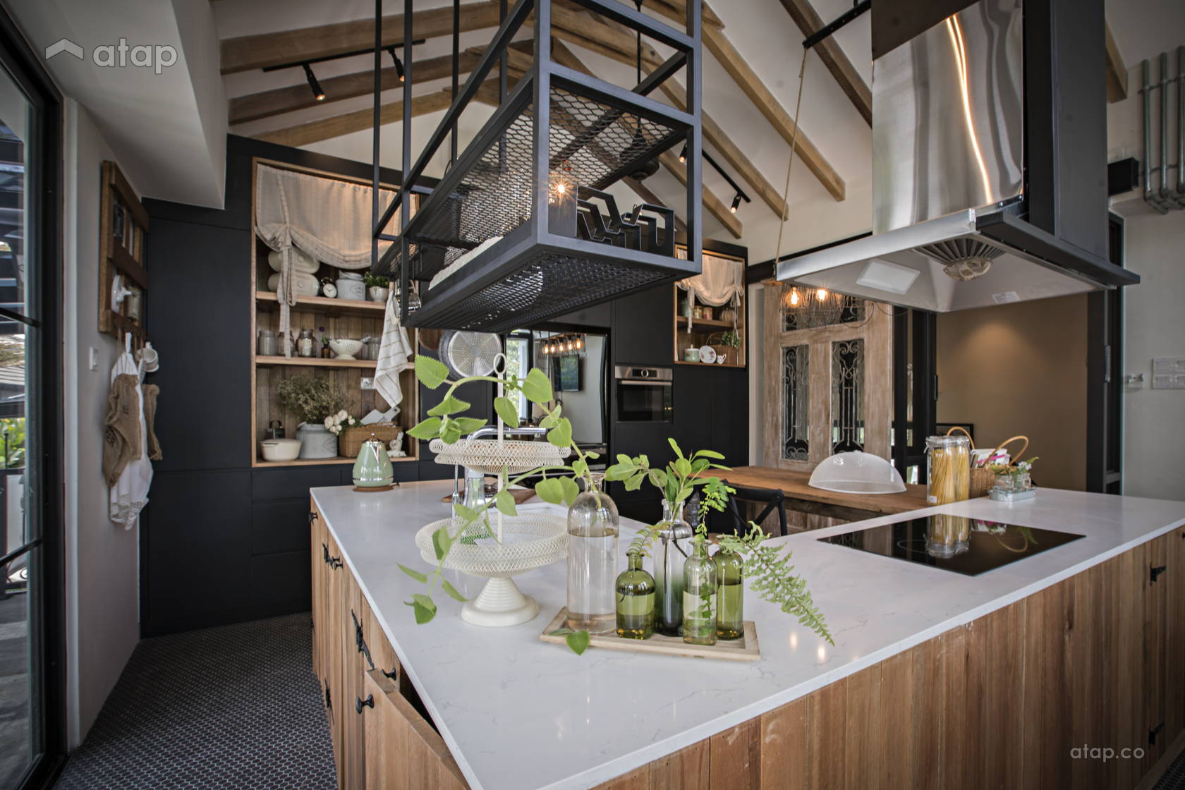Industrial Vintage Kitchen @ Southern French Farm House