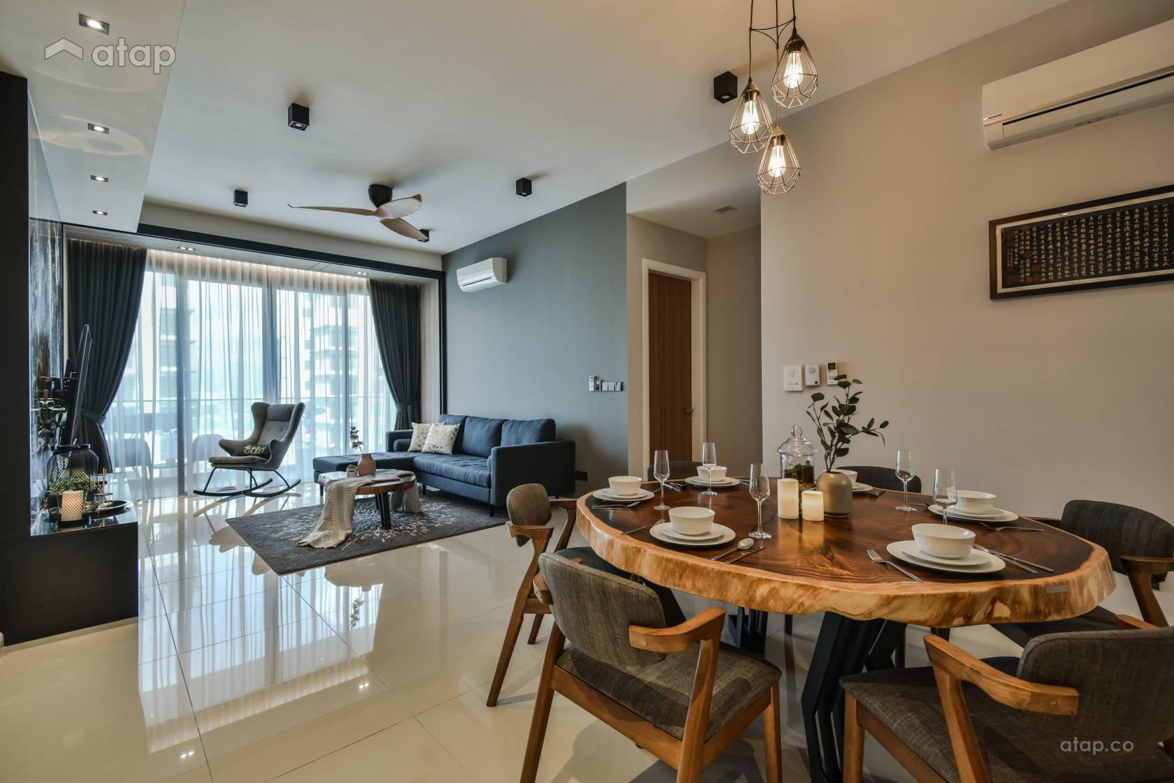 Asian Modern Dining Room @ Anjali Residence Family Home