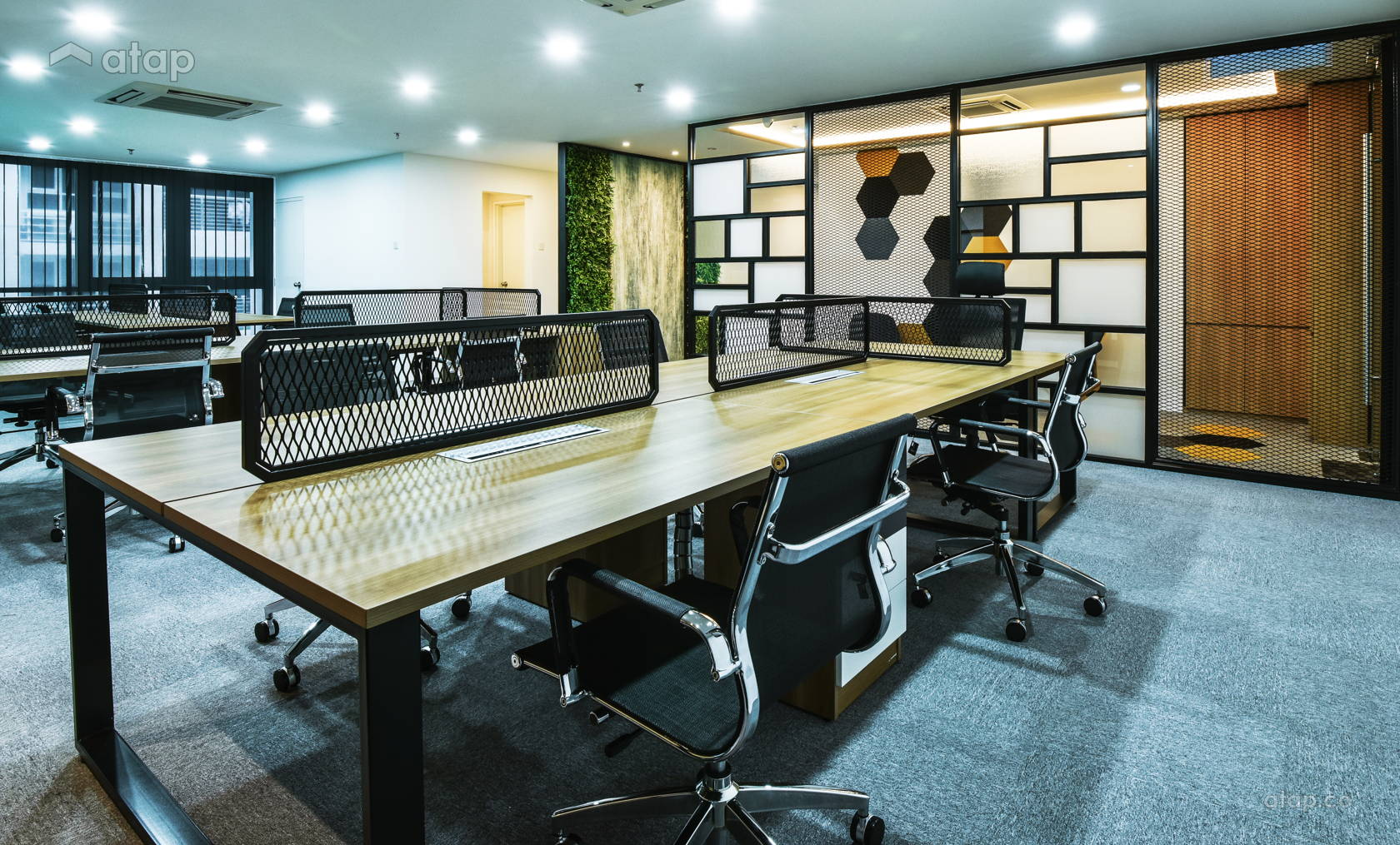 Industrial modern office Pink Industrial Modern Office Modern Industrial Colours Office Share This Professional Atapco Industrial Modern Office Others Design Ideas Photos Malaysia Atapco