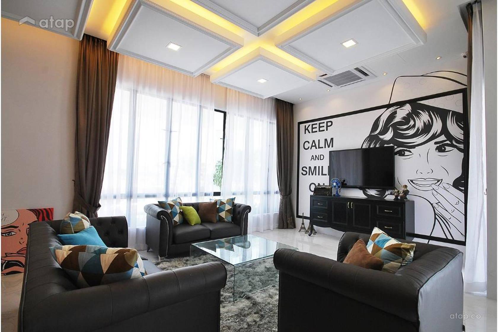 Retro Modern Living Room @ Ipoh South Precinct Show Unit