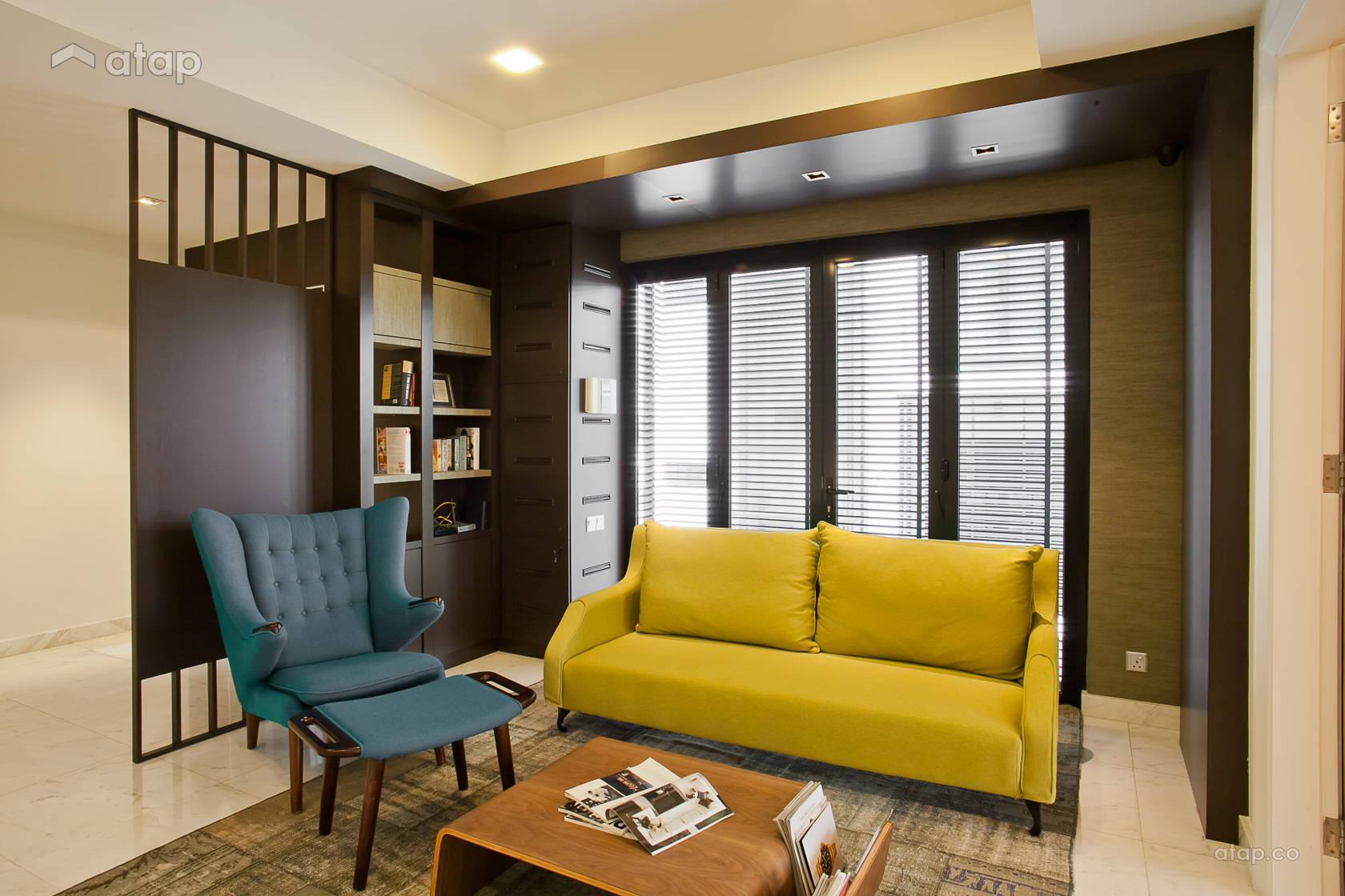 Contemporary Modern Family Room Living Room @ Mont Kiara Semi-D