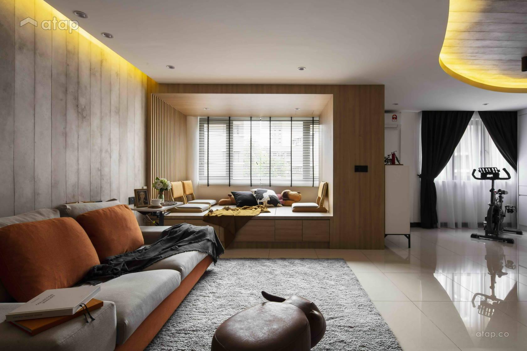 Modern Zen Living Room @ Dusk Till Dawn @ Villa OUG, Taman Yarl, Kuala Lumpur