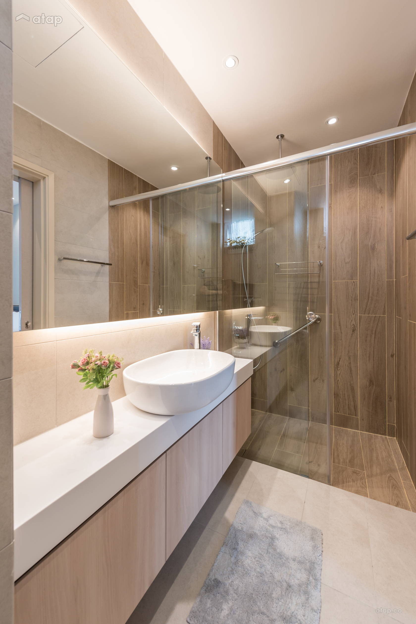 Contemporary Zen Bathroom condominium design ideas ...