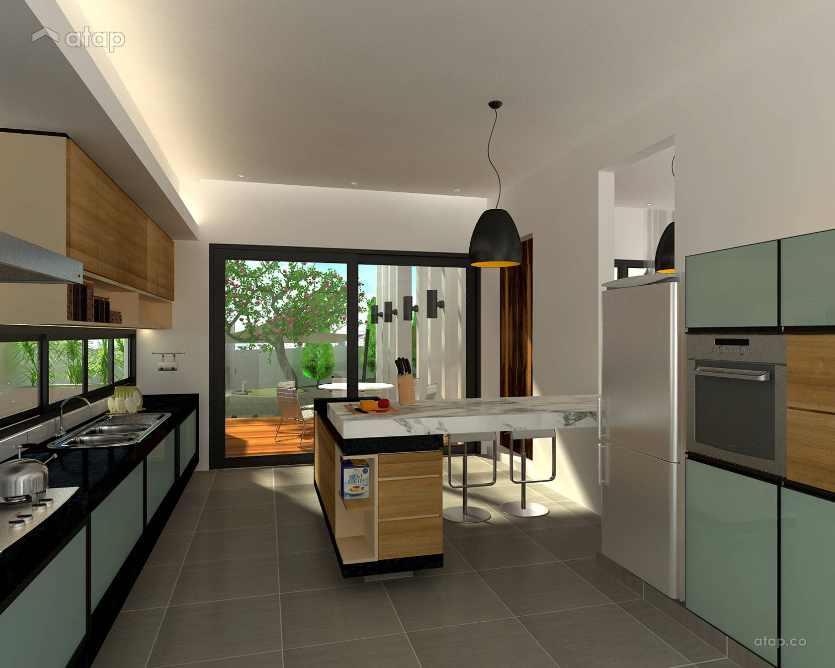 Contemporary Modern Kitchen Dining Room Bungalow Design Ideas