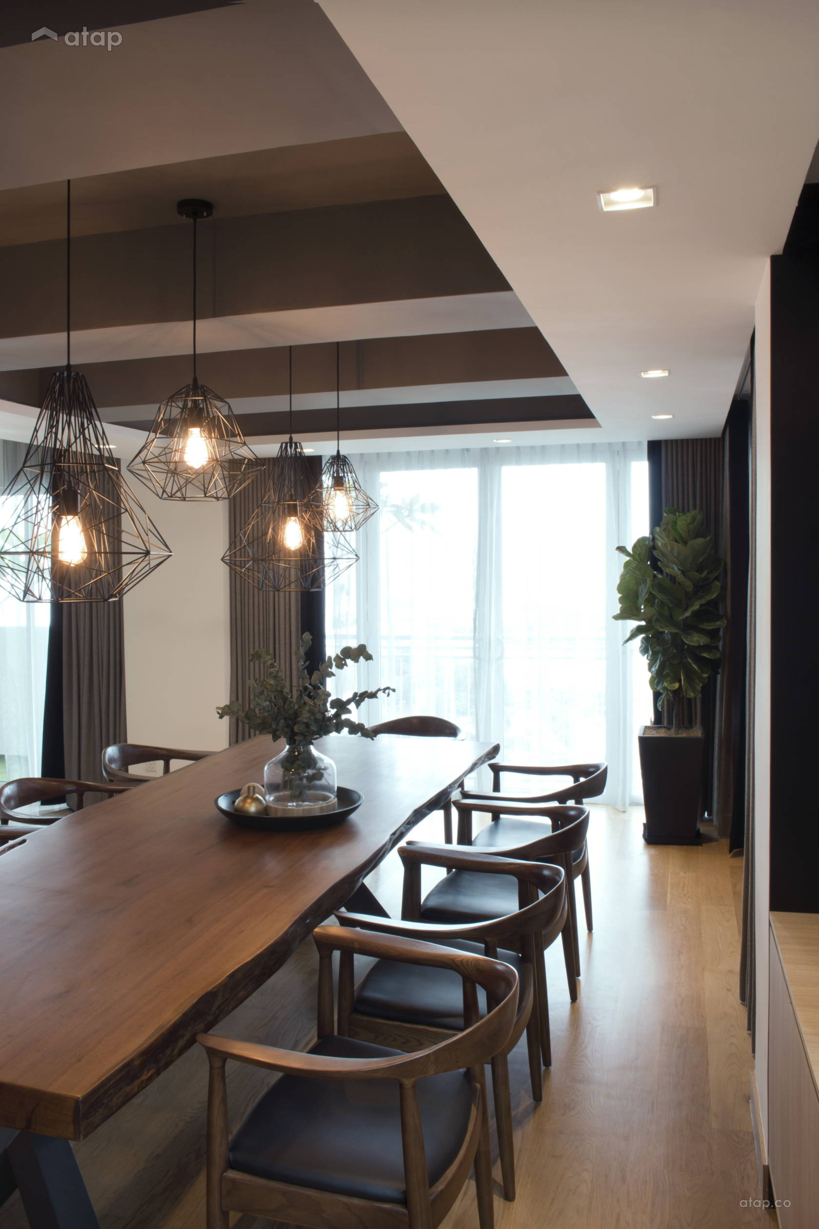 Minimalistic Modern Dining Room @ A palette of black- Penthouse at Mont Kiara, KL