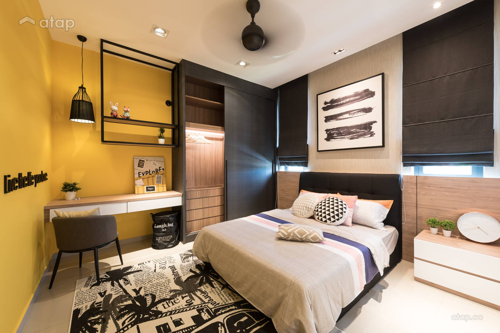 Contemporary Modern Bedroom @ Quatro Homes for Lowyat Group