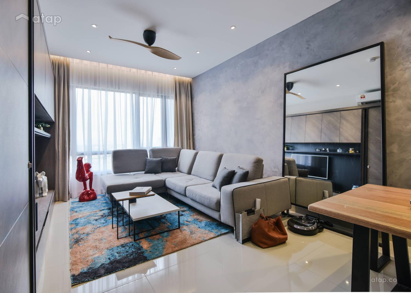 Contemporary Modern Living Room @ Metropark Paloma Residence @ Hitech