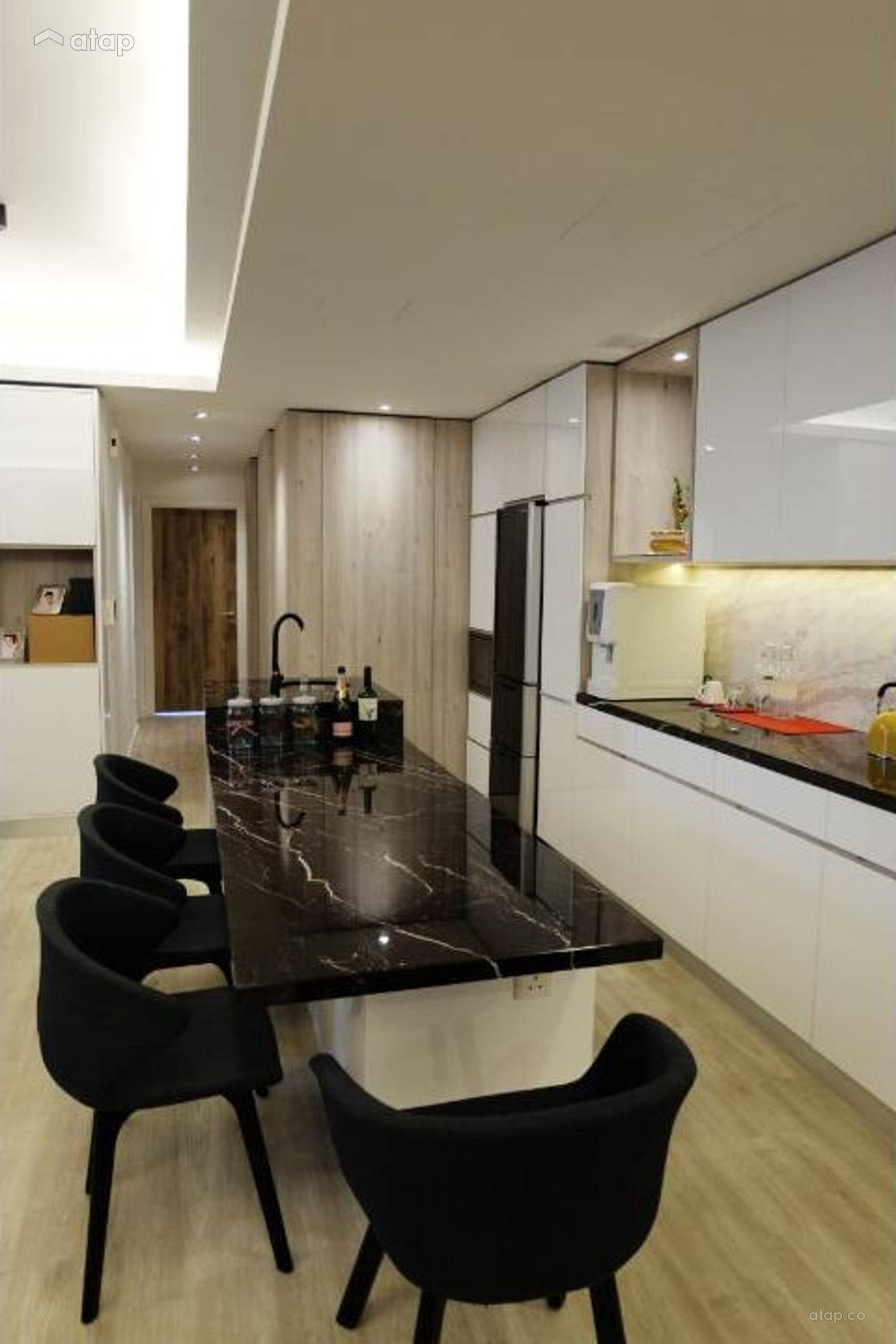 Contemporary Modern Kitchen Dining Room Condominium Design Ideas