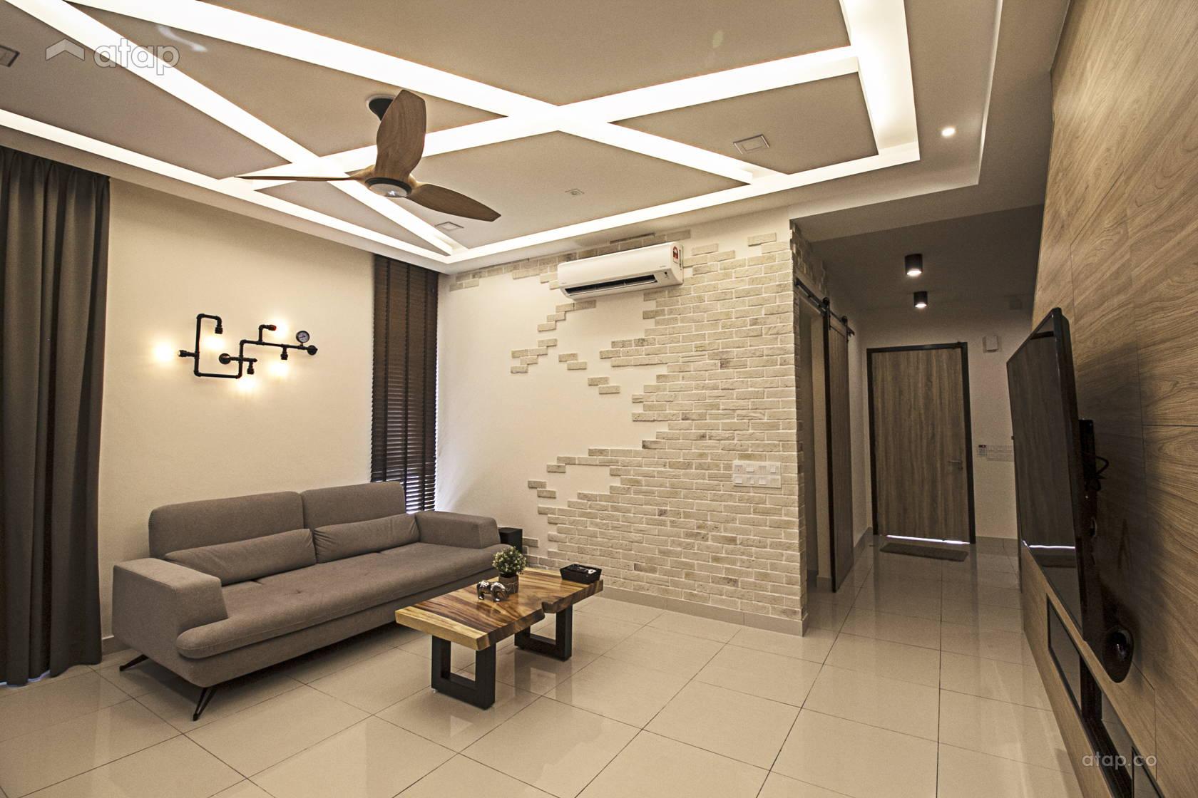 Modern Rustic Living Room @ Rimbayu Periwinkle