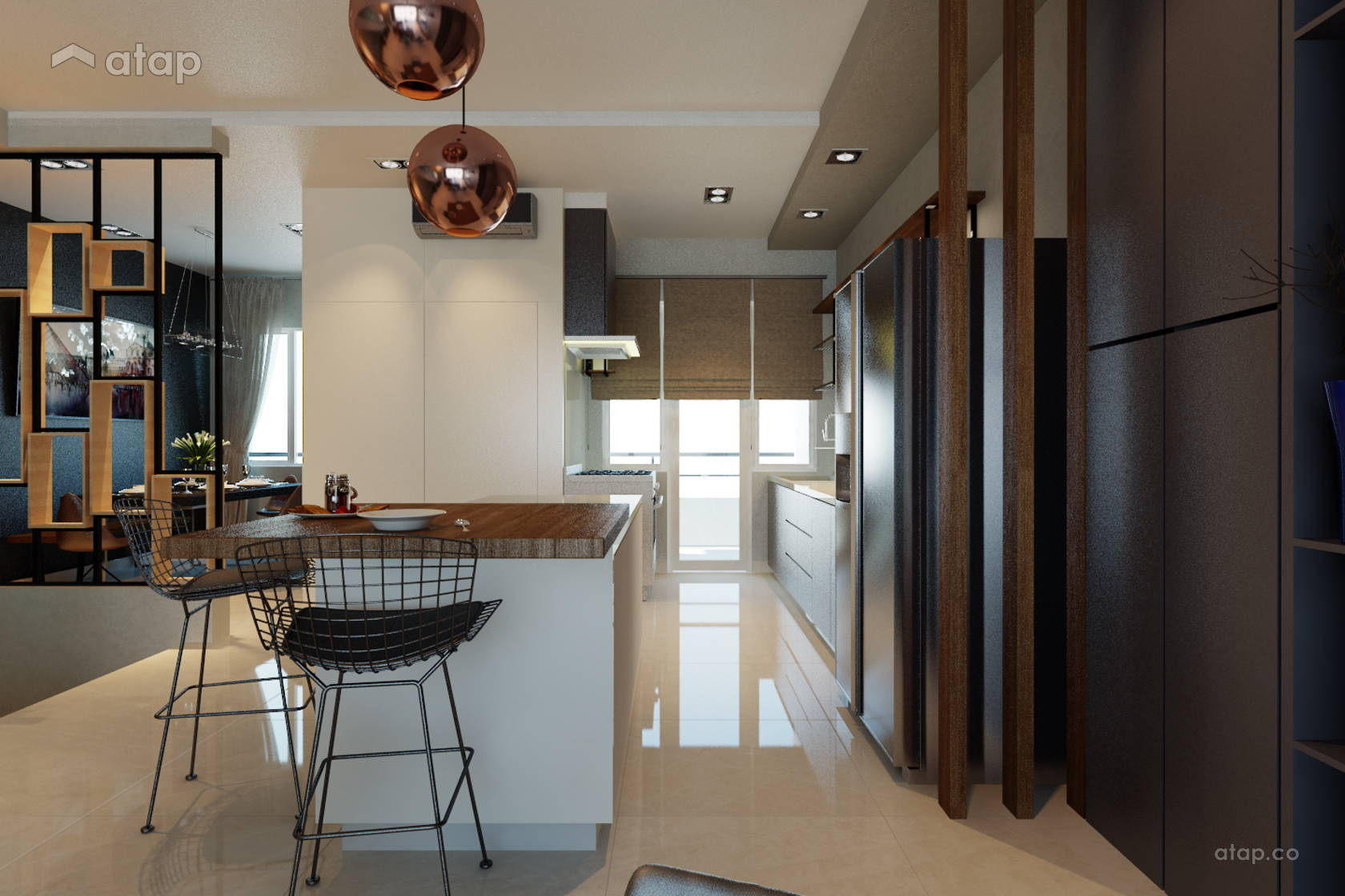Contemporary Modern Dining Room Kitchen @ Villa Pines Town House