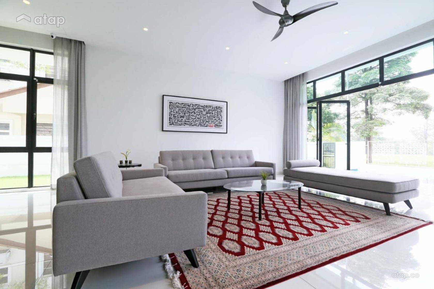 Minimalistic Living Room @ Haus at Saujana