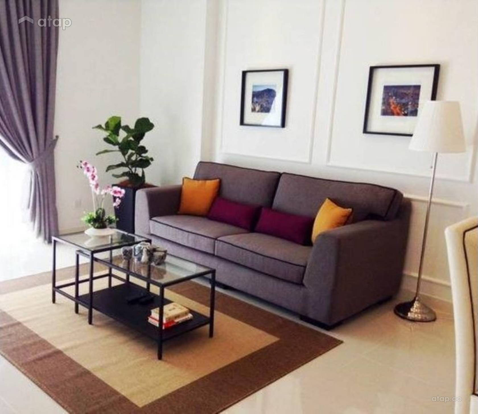 Contemporary Modern Living Room @ Bangsar Residence