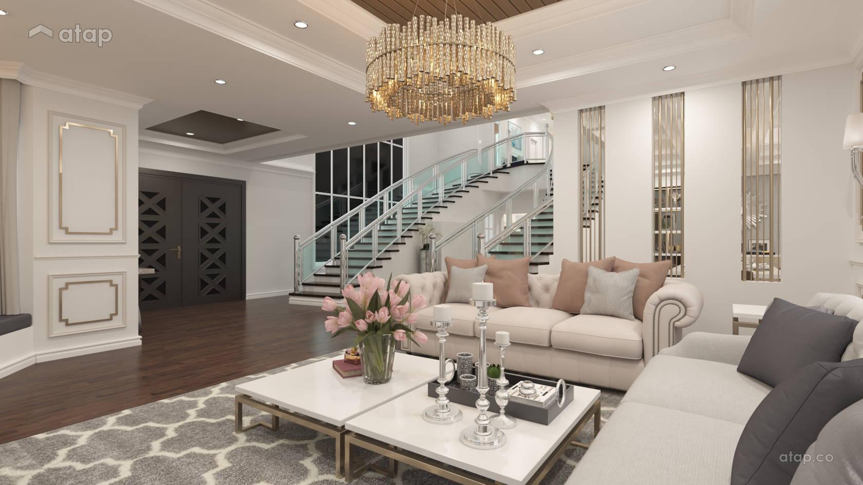 Modern Vintage Living Room Bungalow Design Ideas Photos Malaysia Atap Co