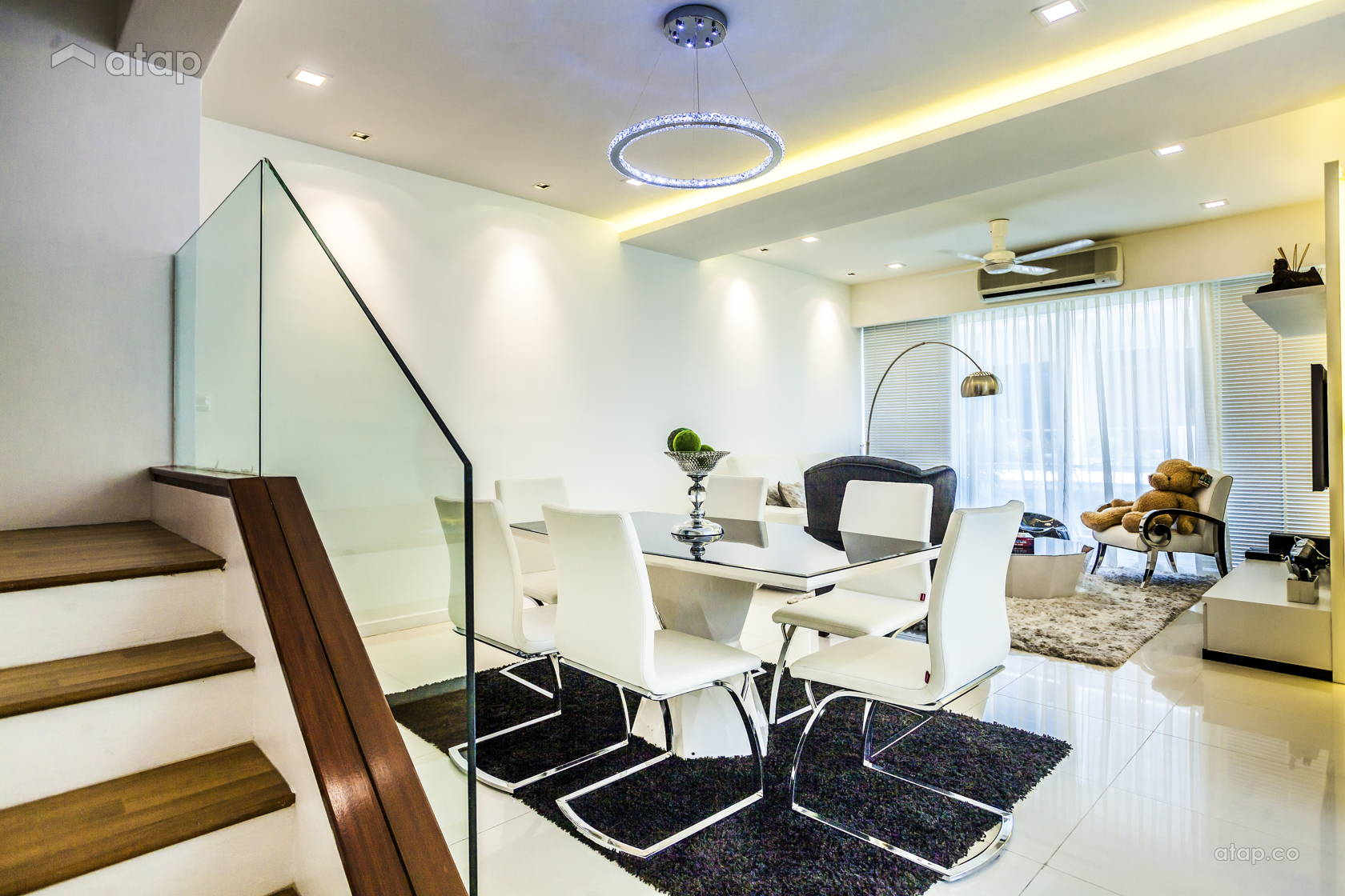 Modern Dining Room Living Townhouse Share This Professional