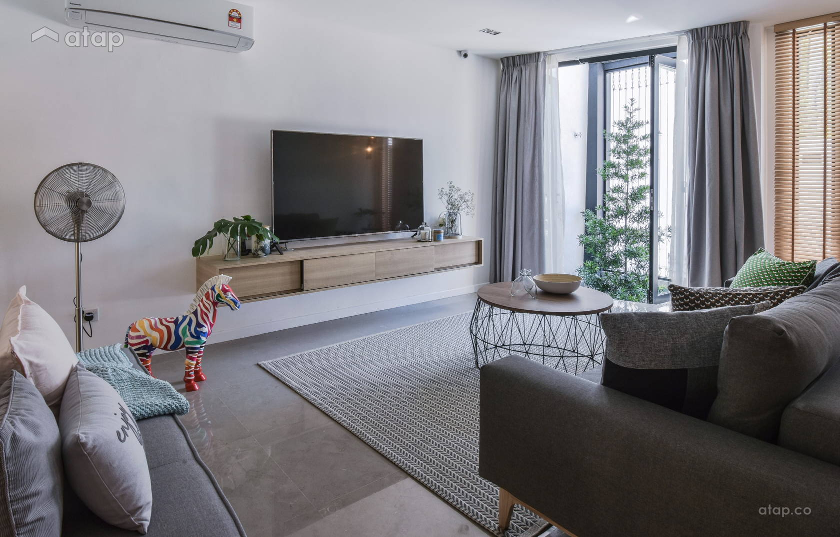 Minimalistic Scandinavian Living Room @ Tree In The Cage
