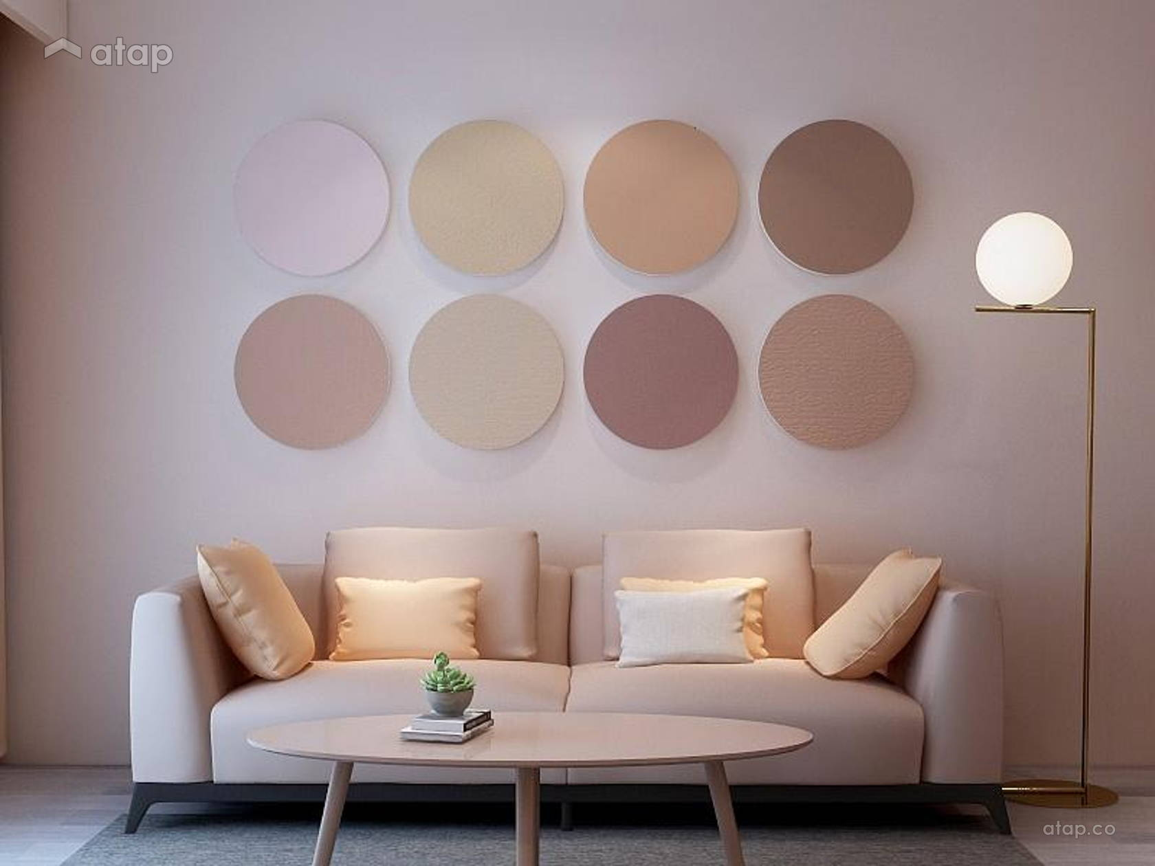 Modern Scandinavian Living Room @ Goflex Signature - Nude Collection Interior