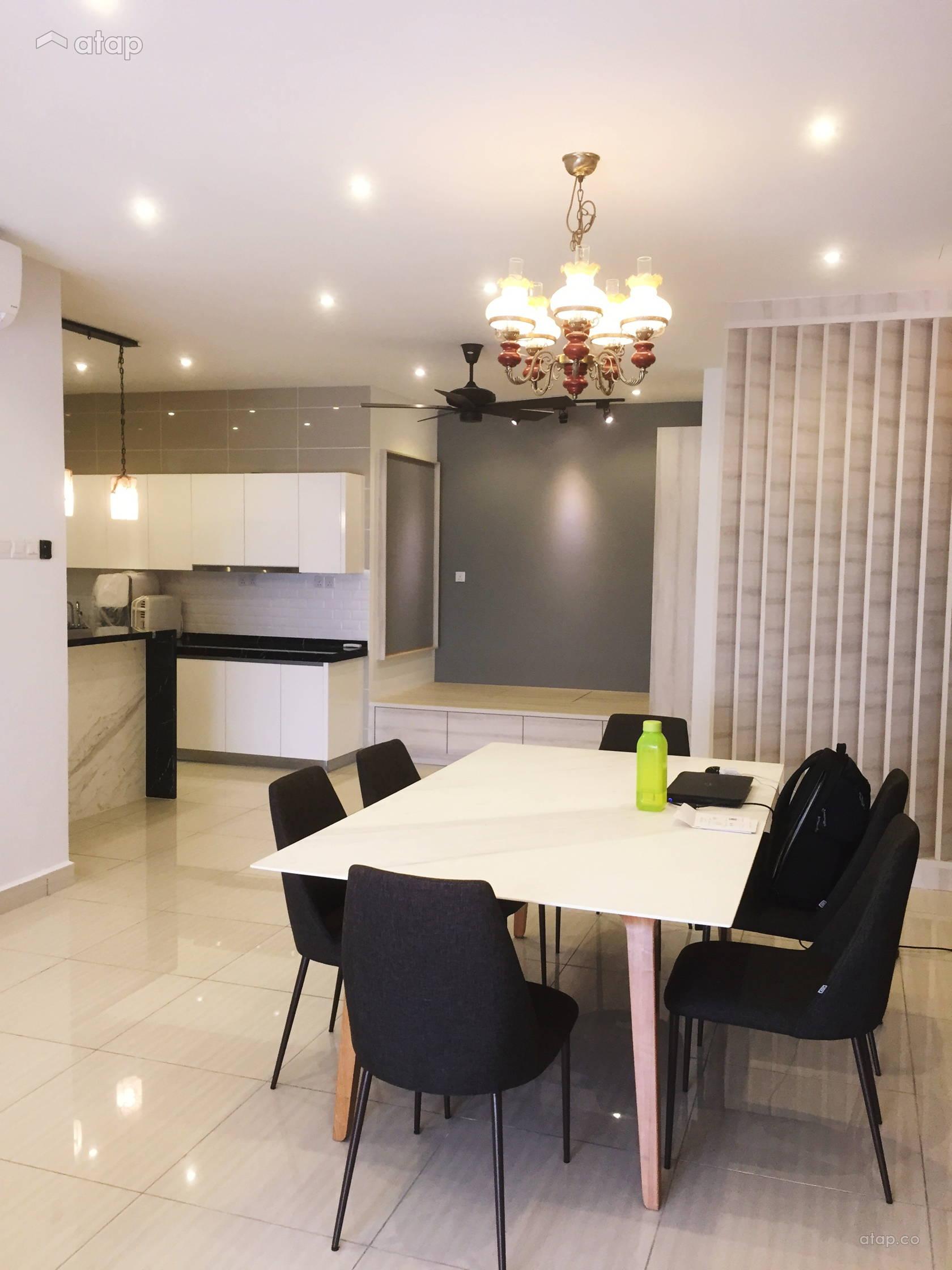 Condominium Study Room: Asian Minimalistic Kitchen Study Room Condominium Design