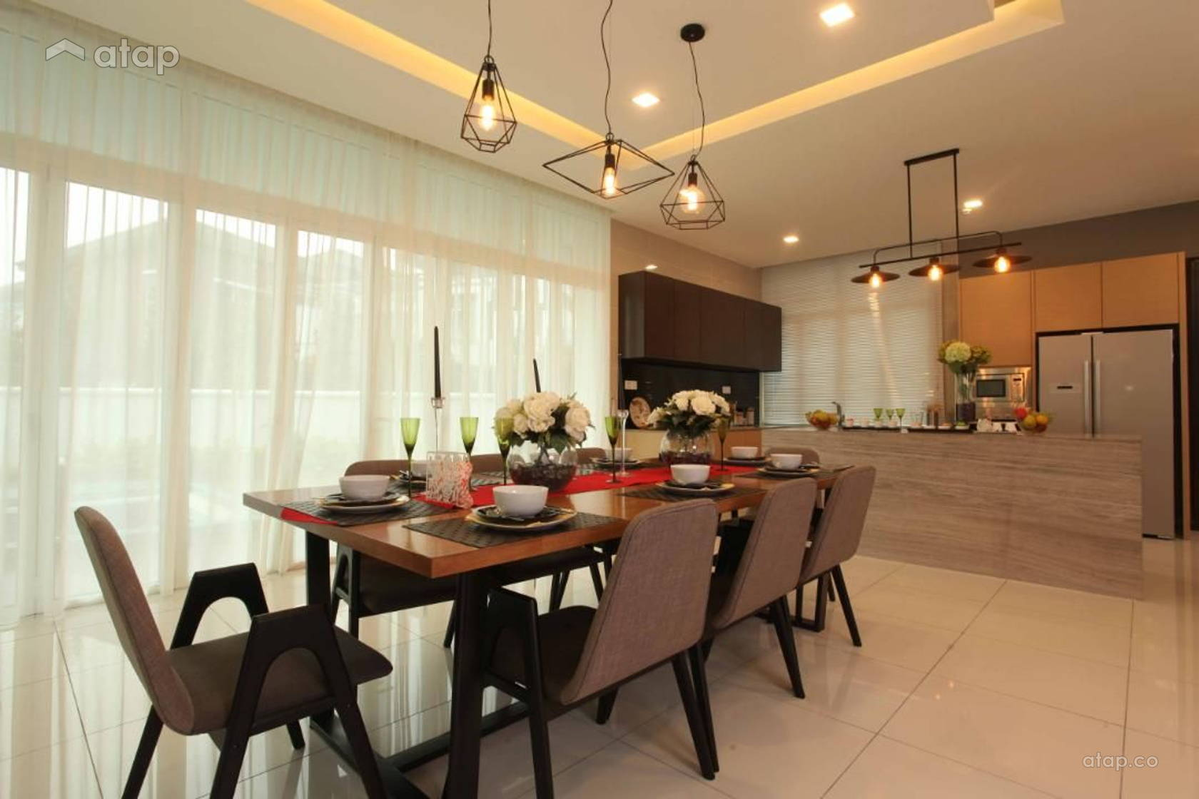 Contemporary Modern Dining Room @ Setia Eco Park, Setia Alam