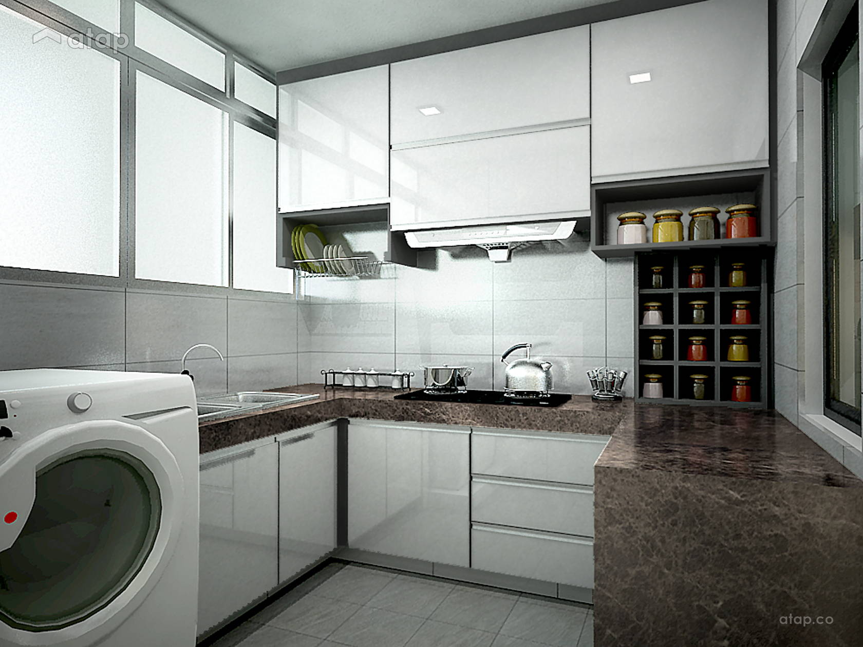 Contemporary Modern Kitchen condominium design ideas & photos