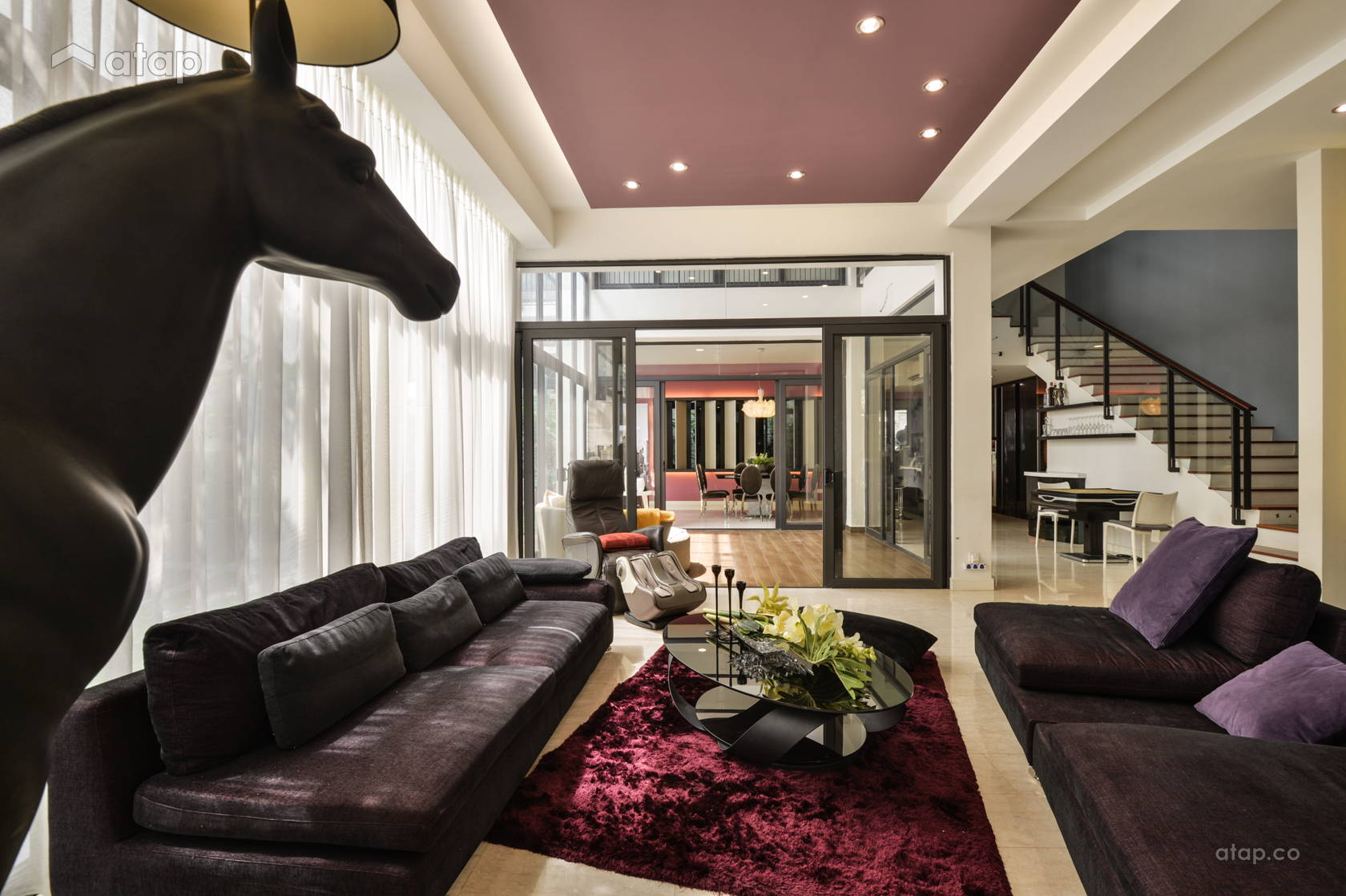 Contemporary Living Room @ Mr. Johson Woo, banglow @ Bukit Jalil (MFID Award Winning Project)
